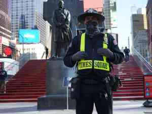 Times Square Security Guard