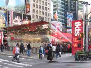 The TKTS Ticket Booth in Times Square, NYC