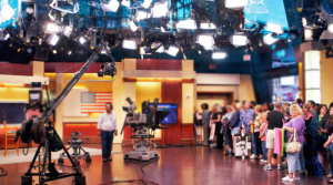 Live TV Set Filming