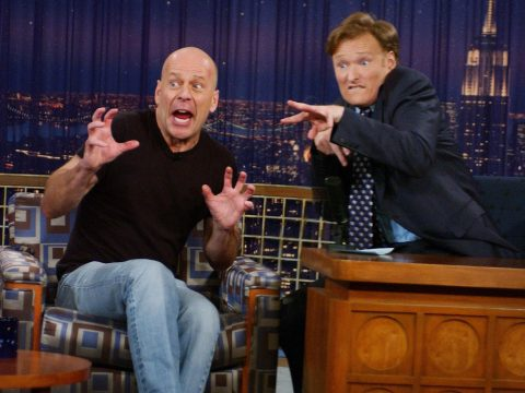 Conan O'Brien With Bruce Willis