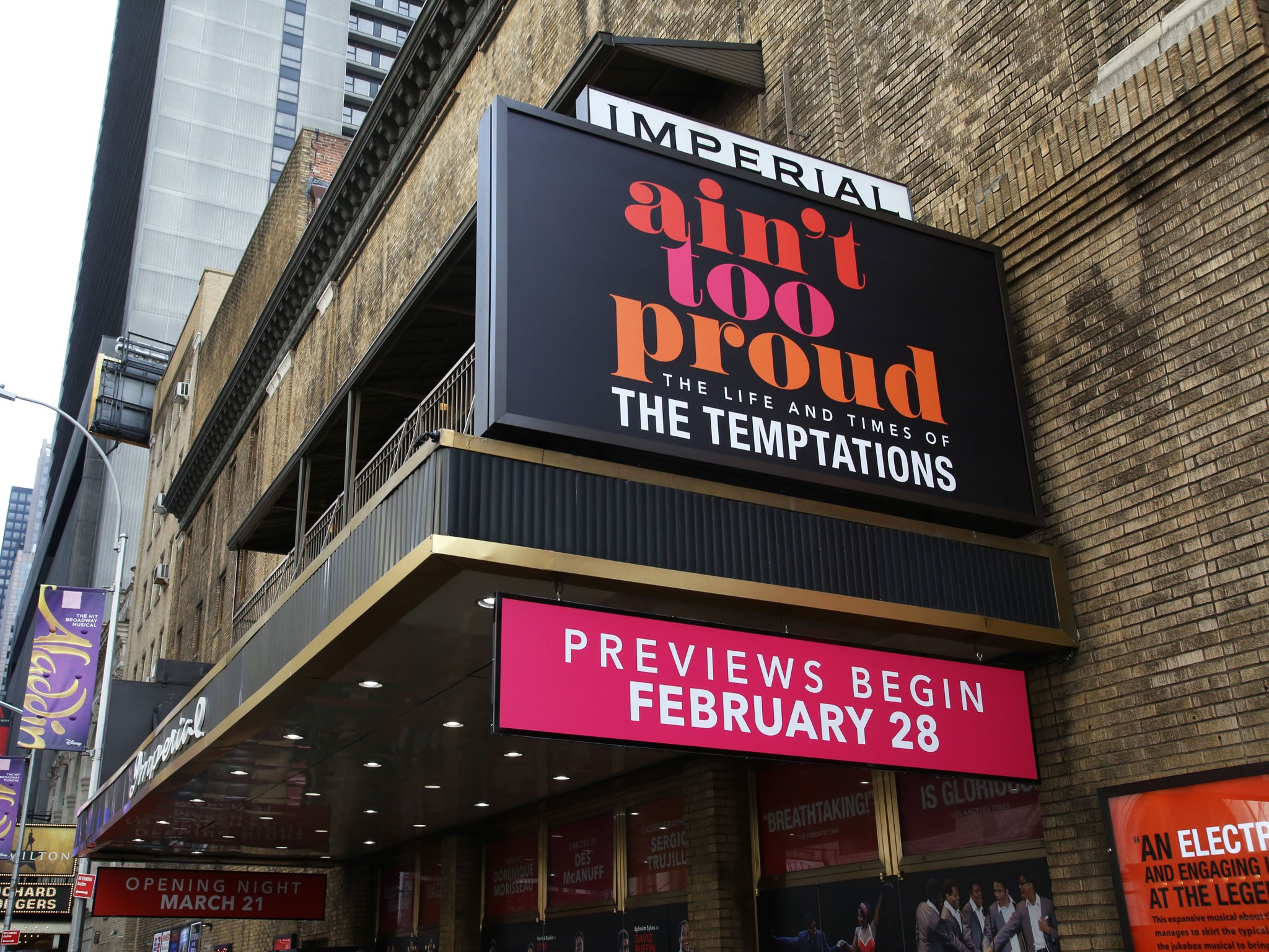 Ain't Too Proud - The Life and Times of the Temptations Imperial Theatre Marquee