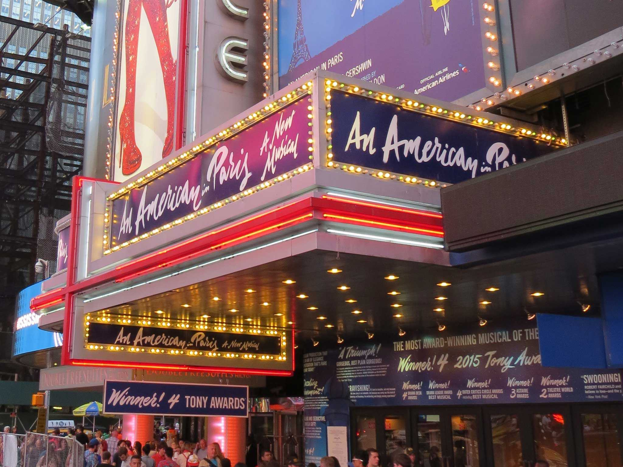 An American in Paris Broadway Theatre Marquee