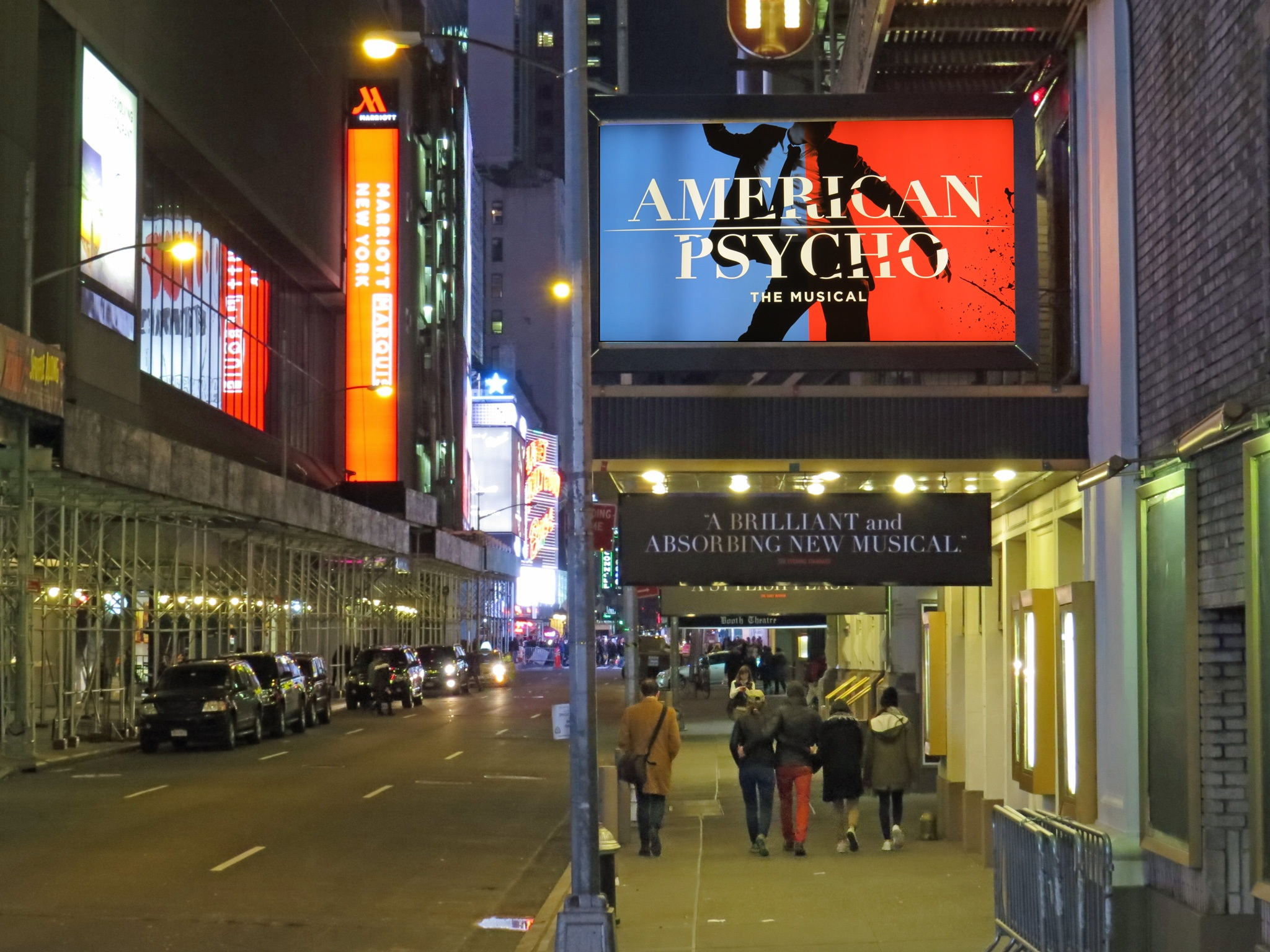 American Psycho Broadway Theatre Marquee
