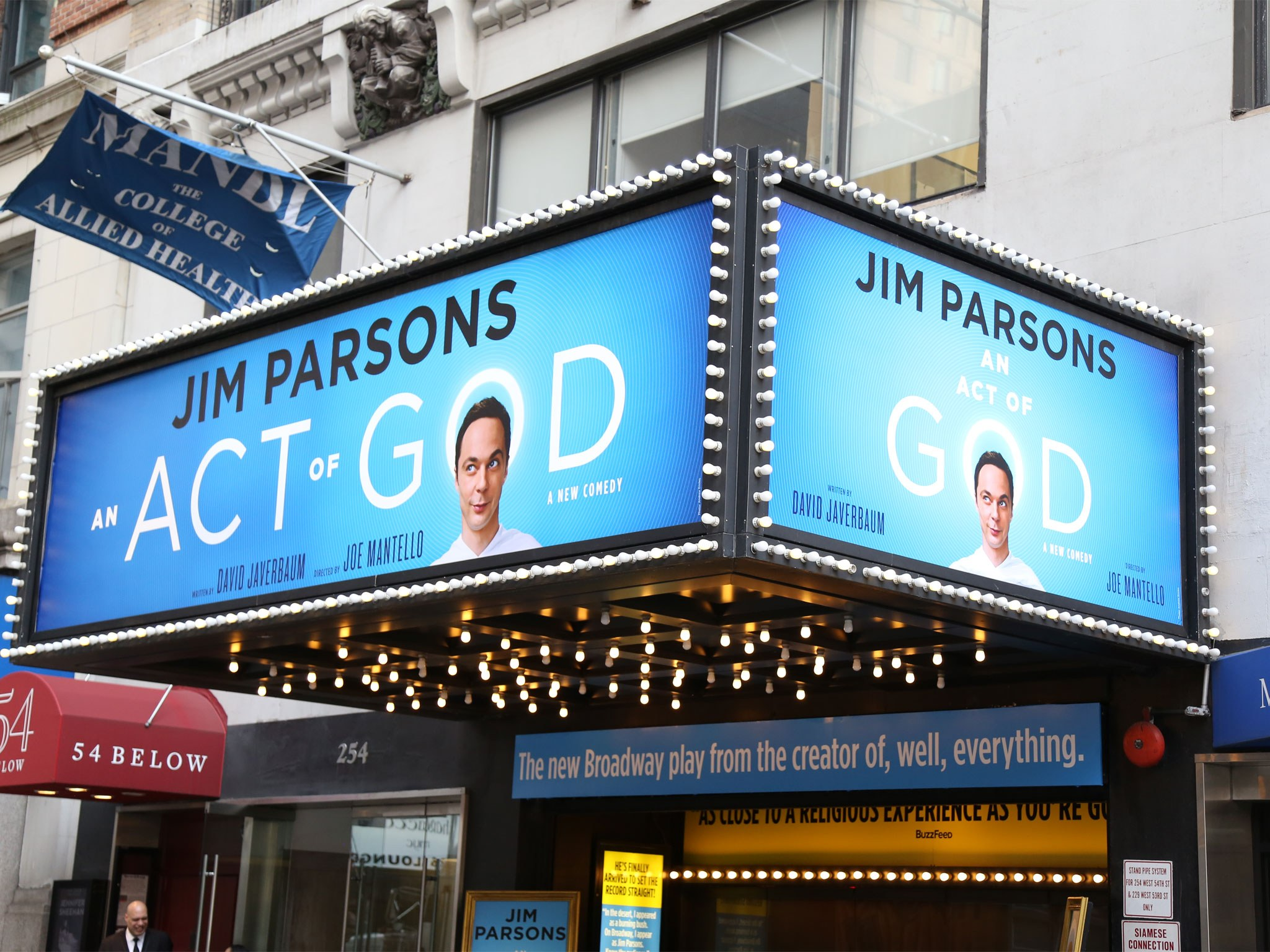 An Act of God (2015, Jim Parsons) Marquee