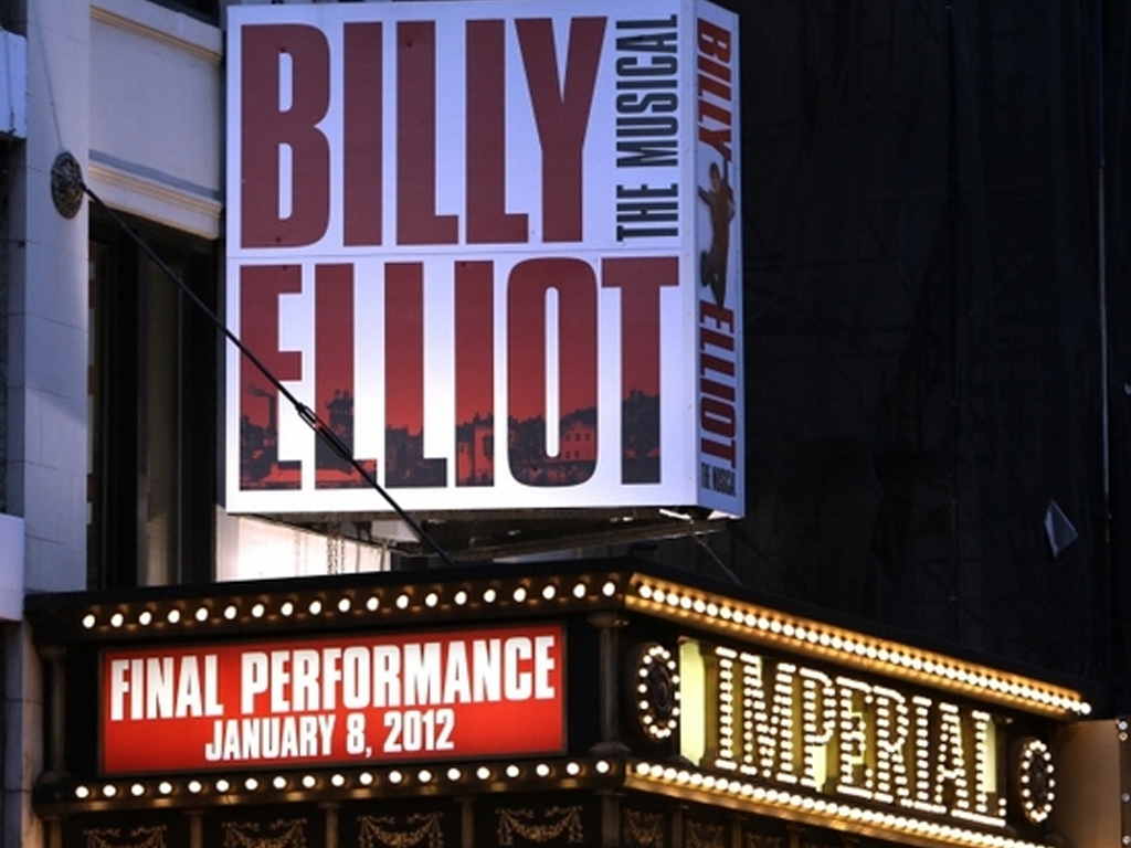 Billy Elliot Marquee at the Imperial Theatre in NYC