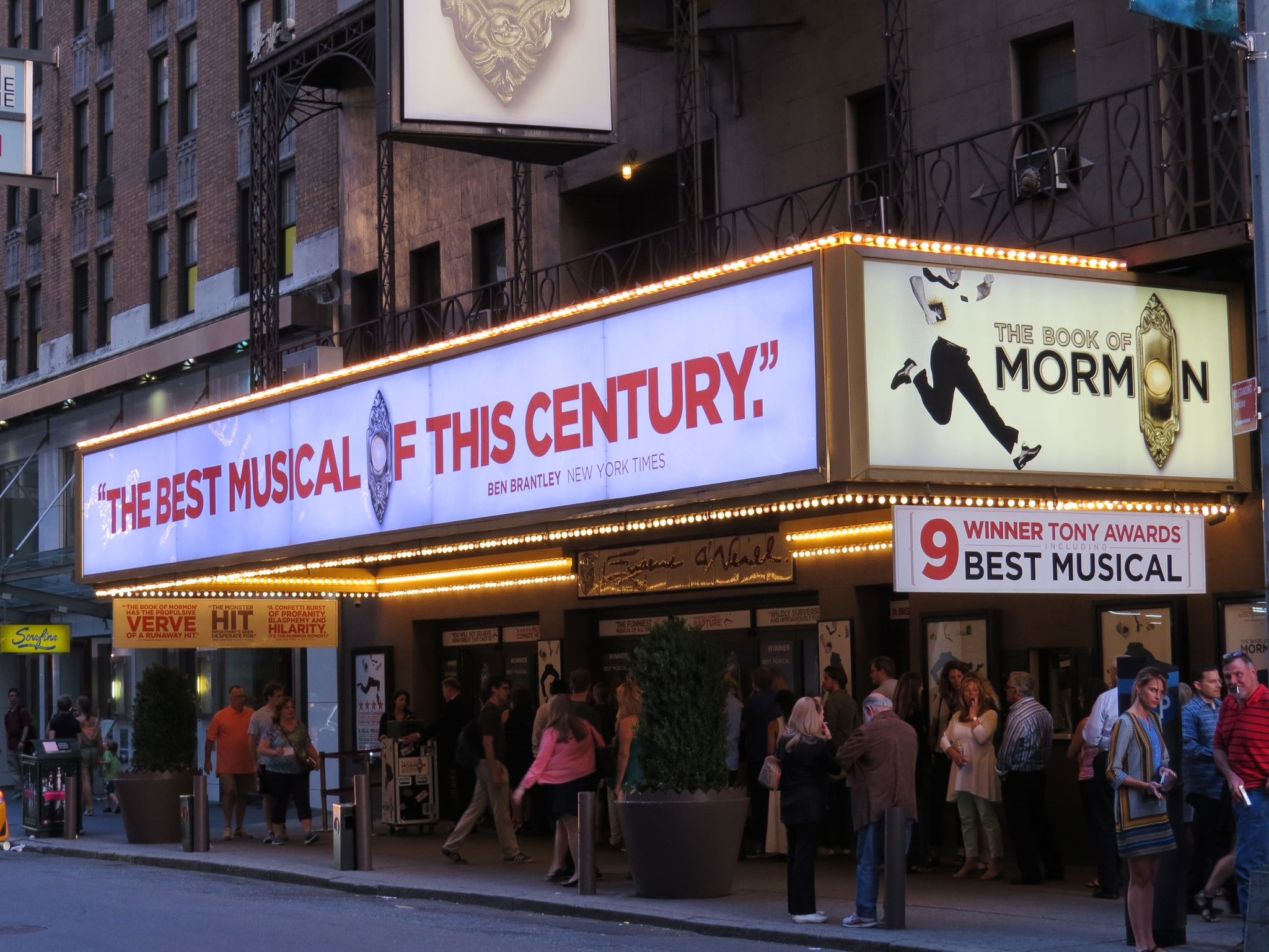 Book of Mormon Marquee on Broadway