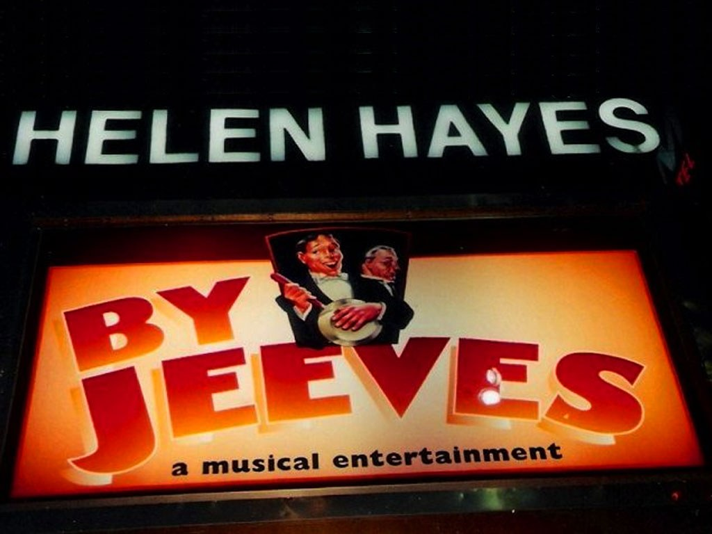 By Jeeves Helen Hayes Broadway Theatre Marquee