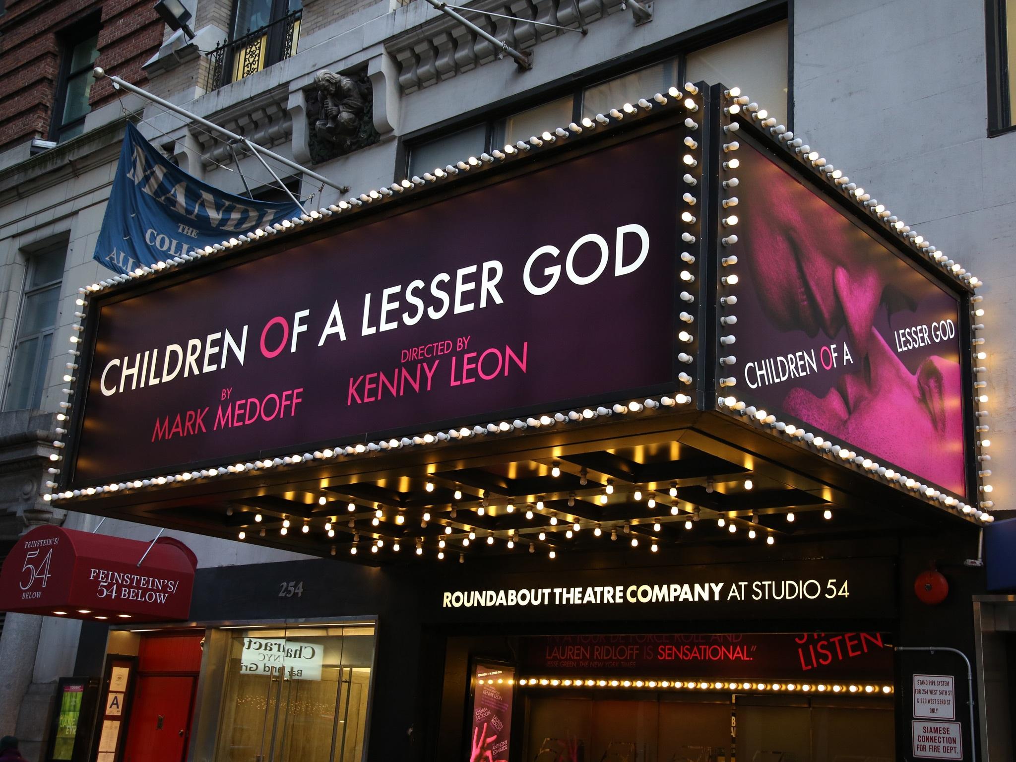 Children Of A Lesser God Theatre Marquee