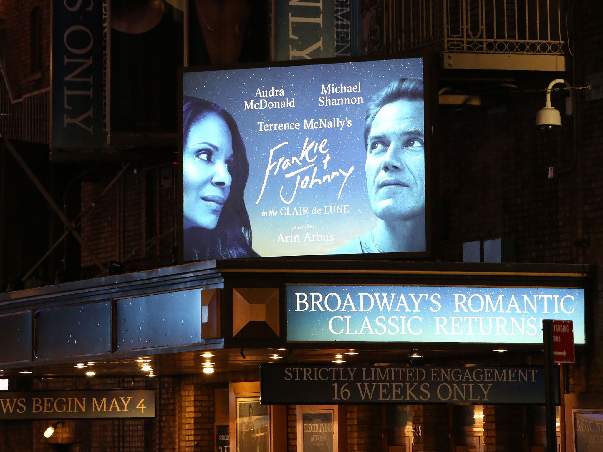 Frankie and Johnny Marquee at the Broadhurst Theatre