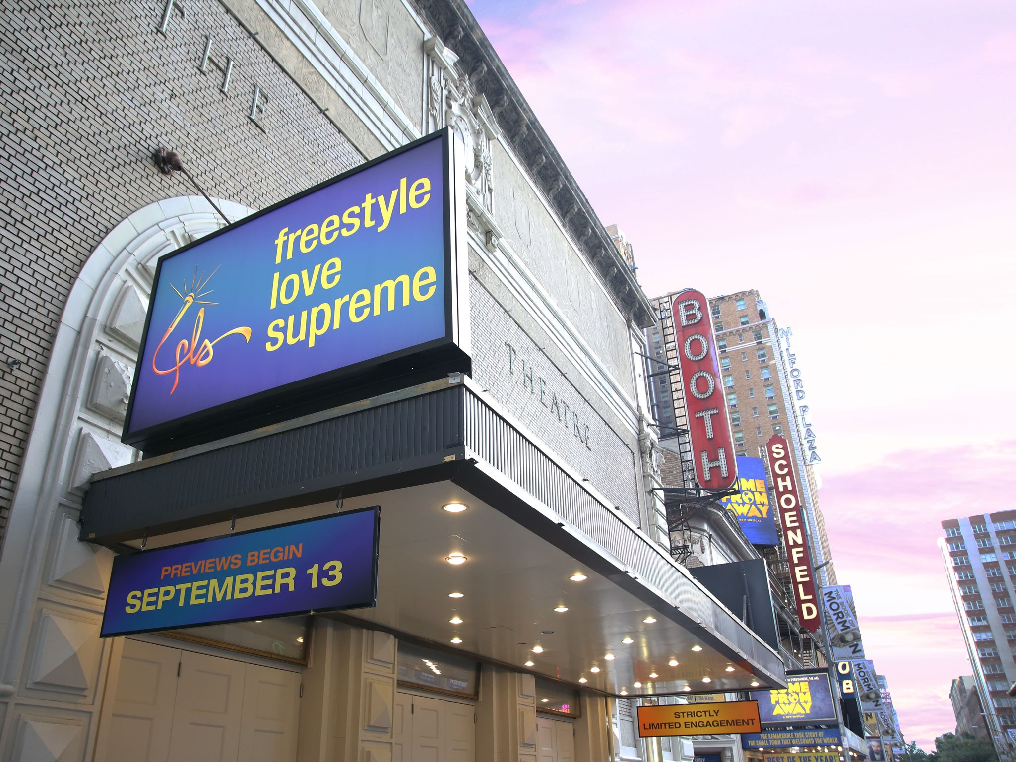 Freestyle Love Supreme Broadway Booth Theatre Marquee