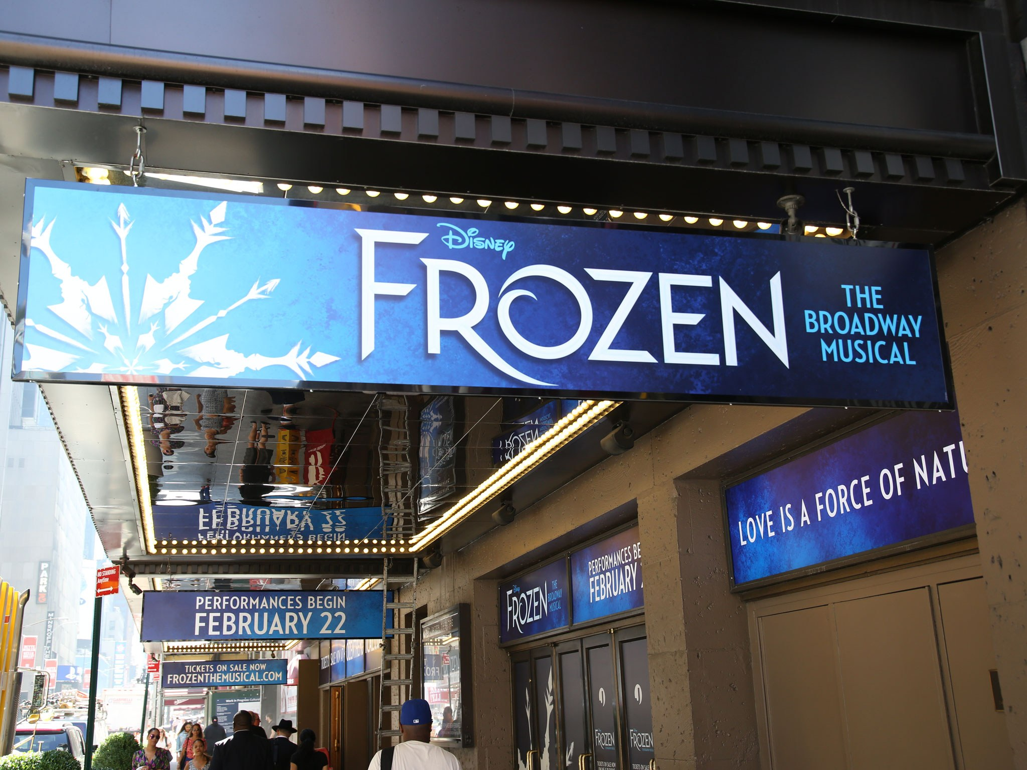 Frozen The Musical Marquee