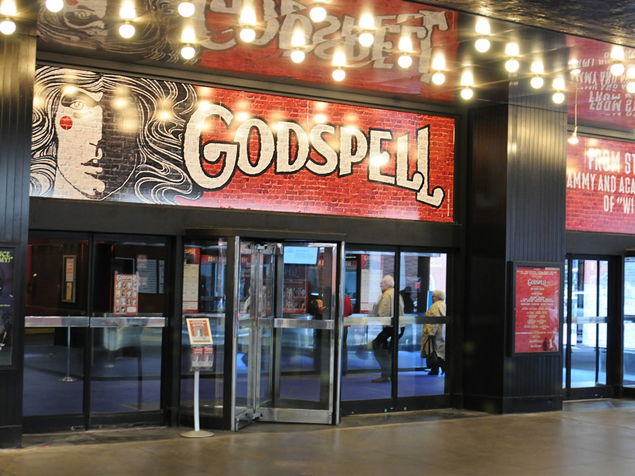 Godspell on Broadway Marquee at the Circle In The Square Theatre