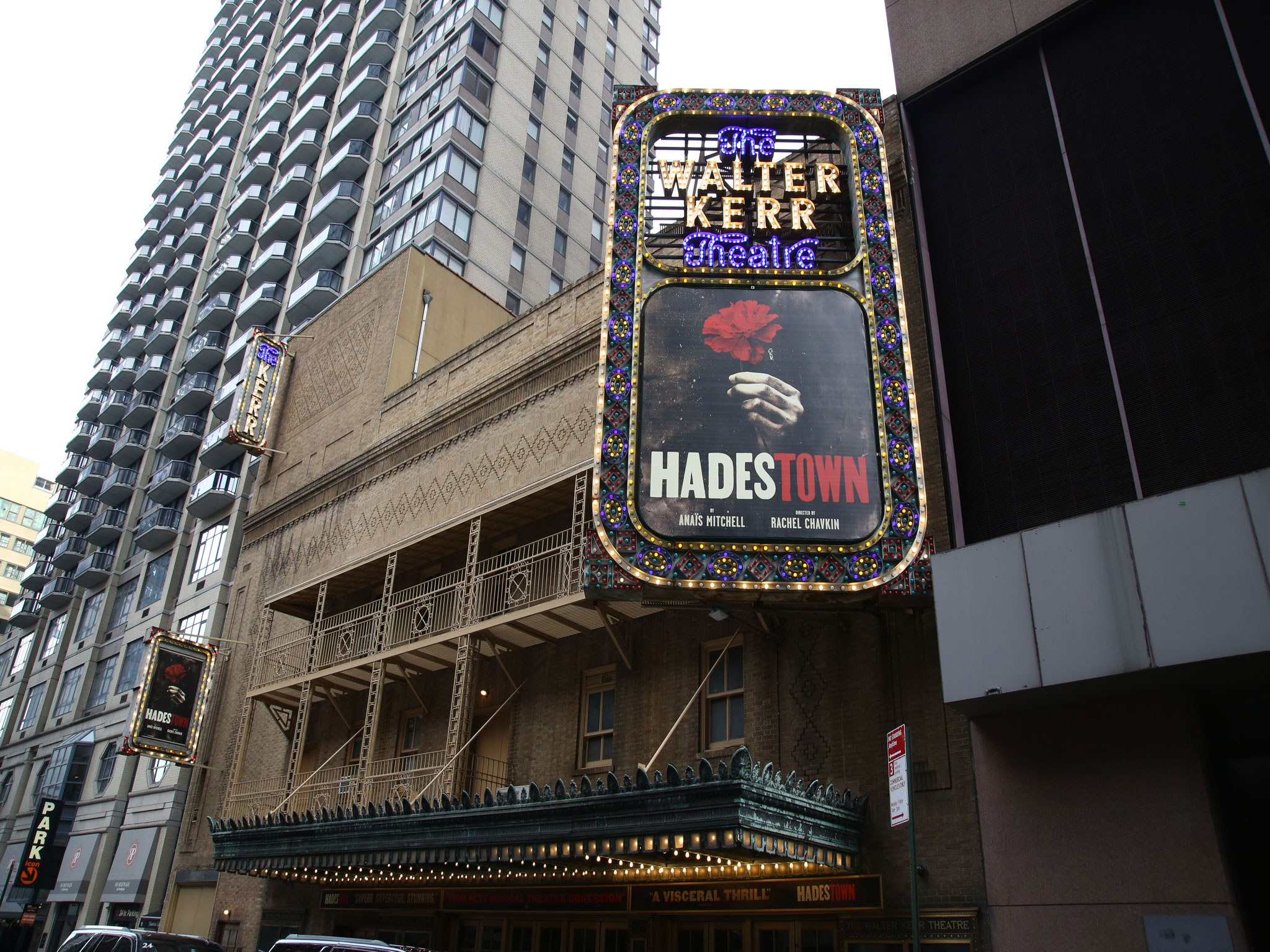 Hadestown Marquee at the Walter Kerr Theatre