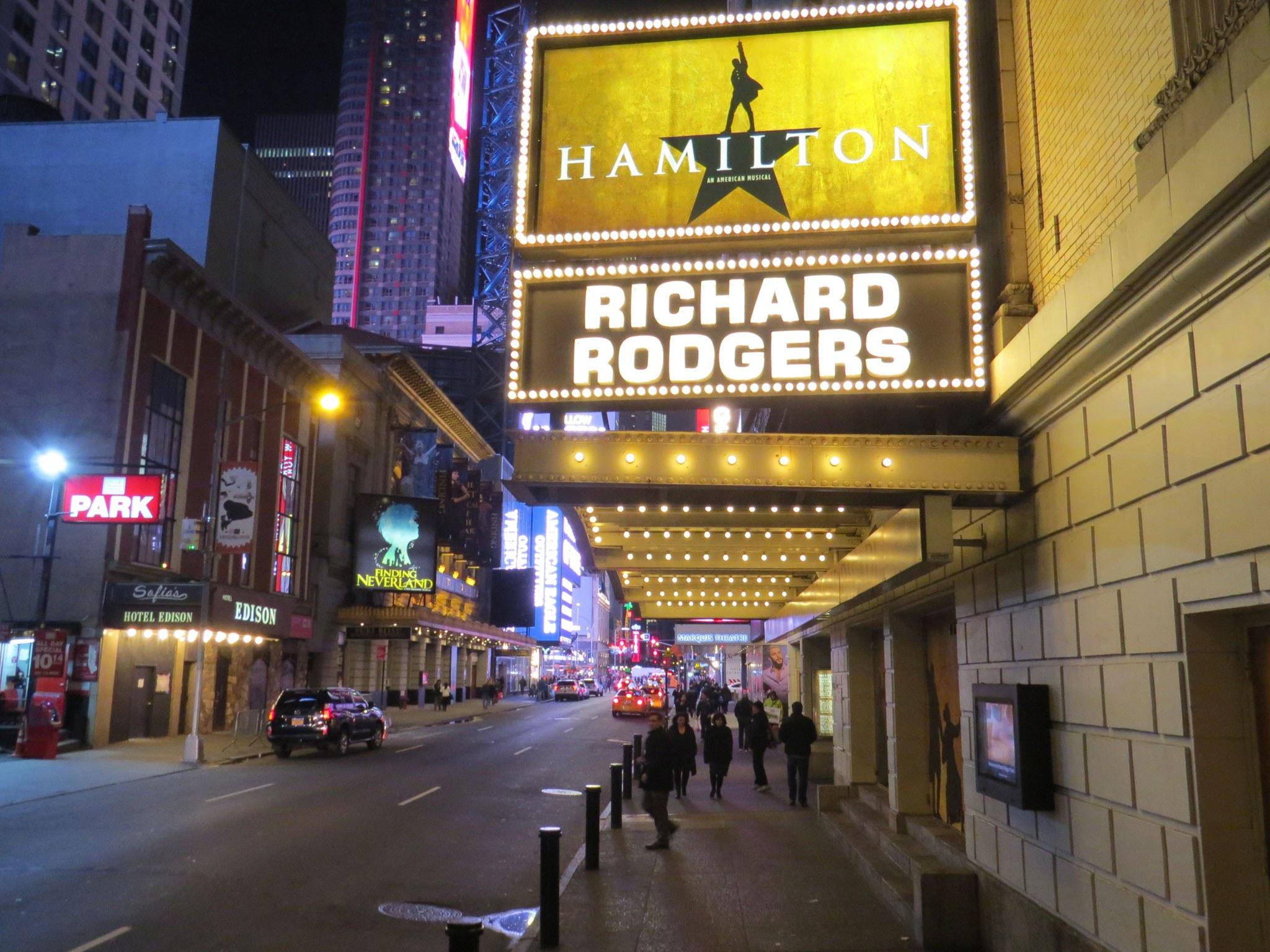 Hamilton Broadway Theatre Marquee