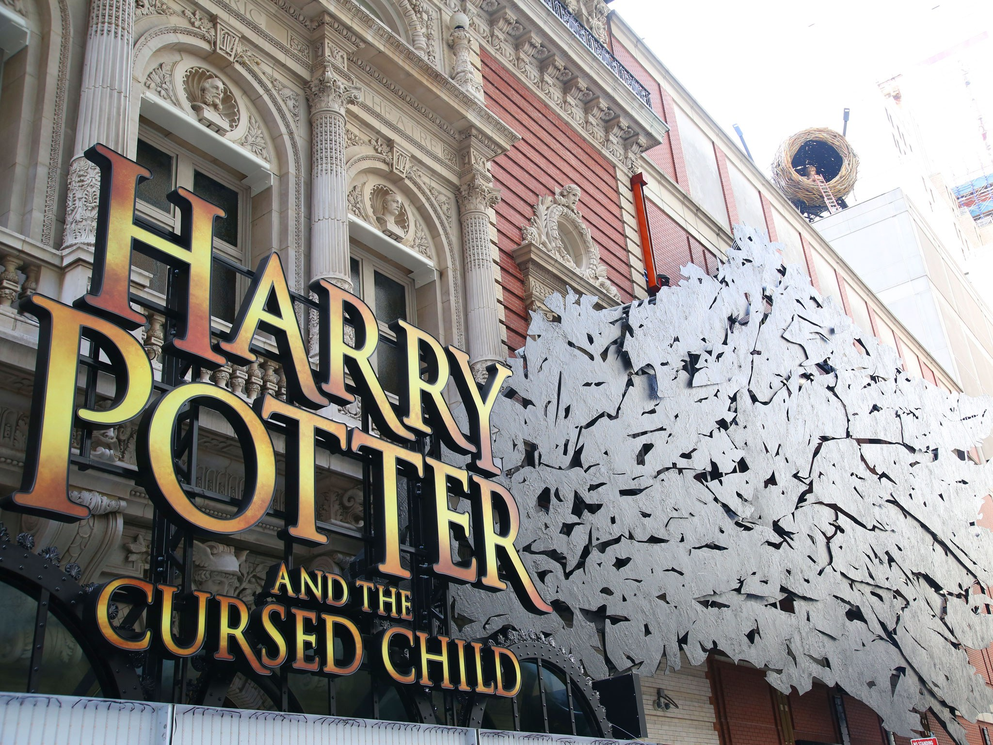 Harry Potter and the Cursed Child Broadway Theatre Marquee