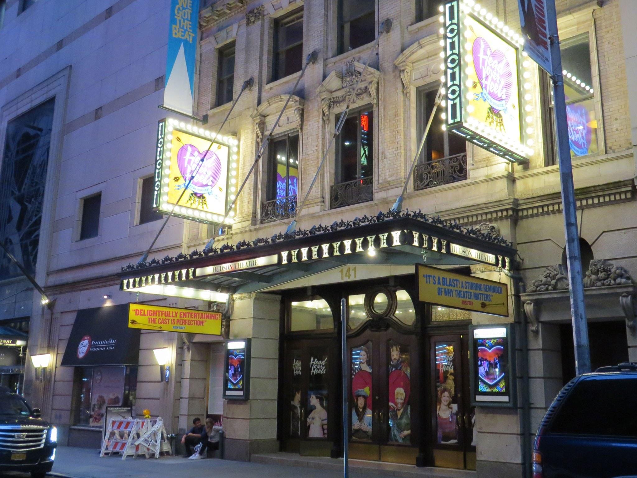 Head Over Heels Broadway Theatre Marquee