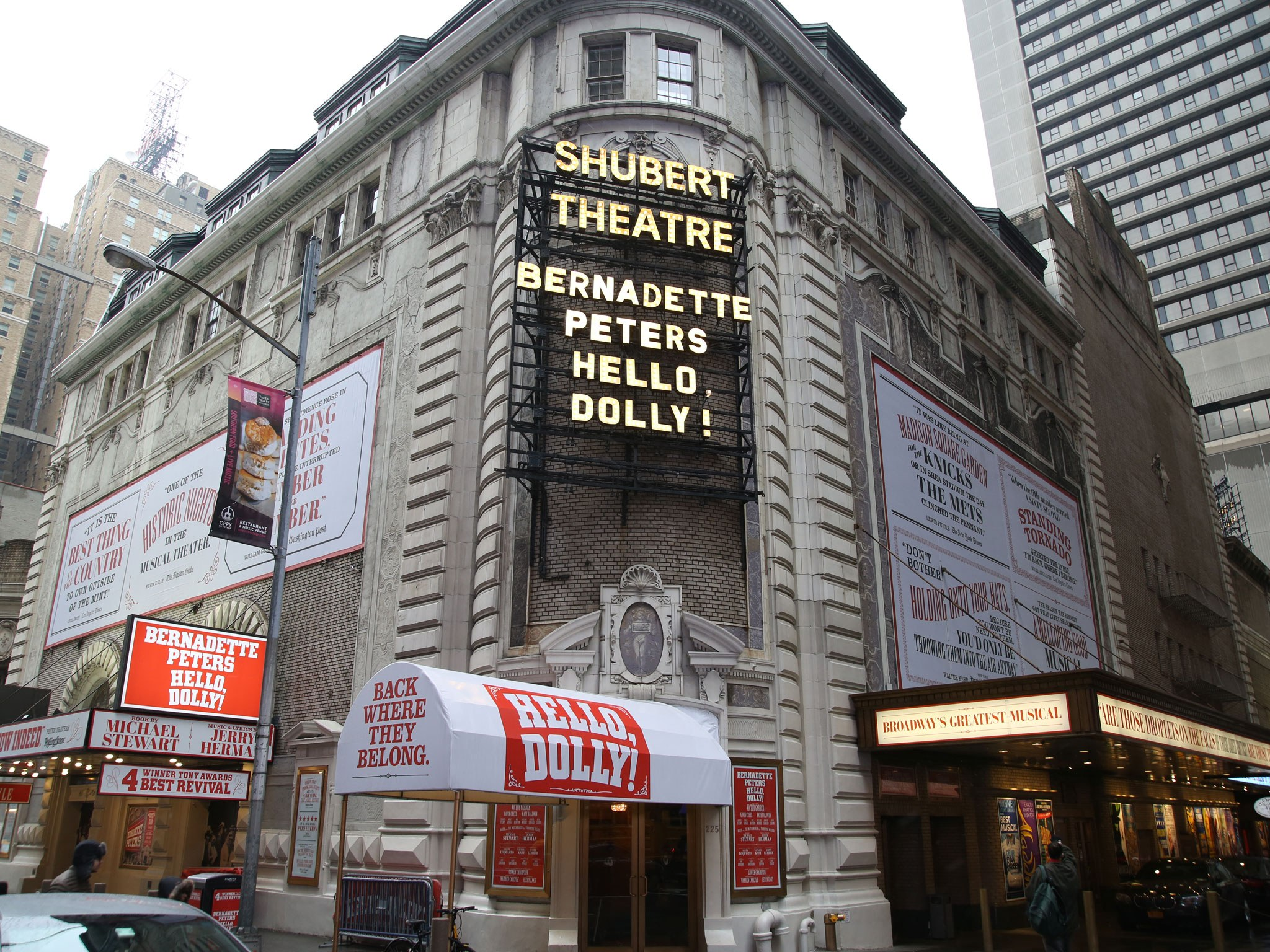 Hello Dolly Marquee on Broadway