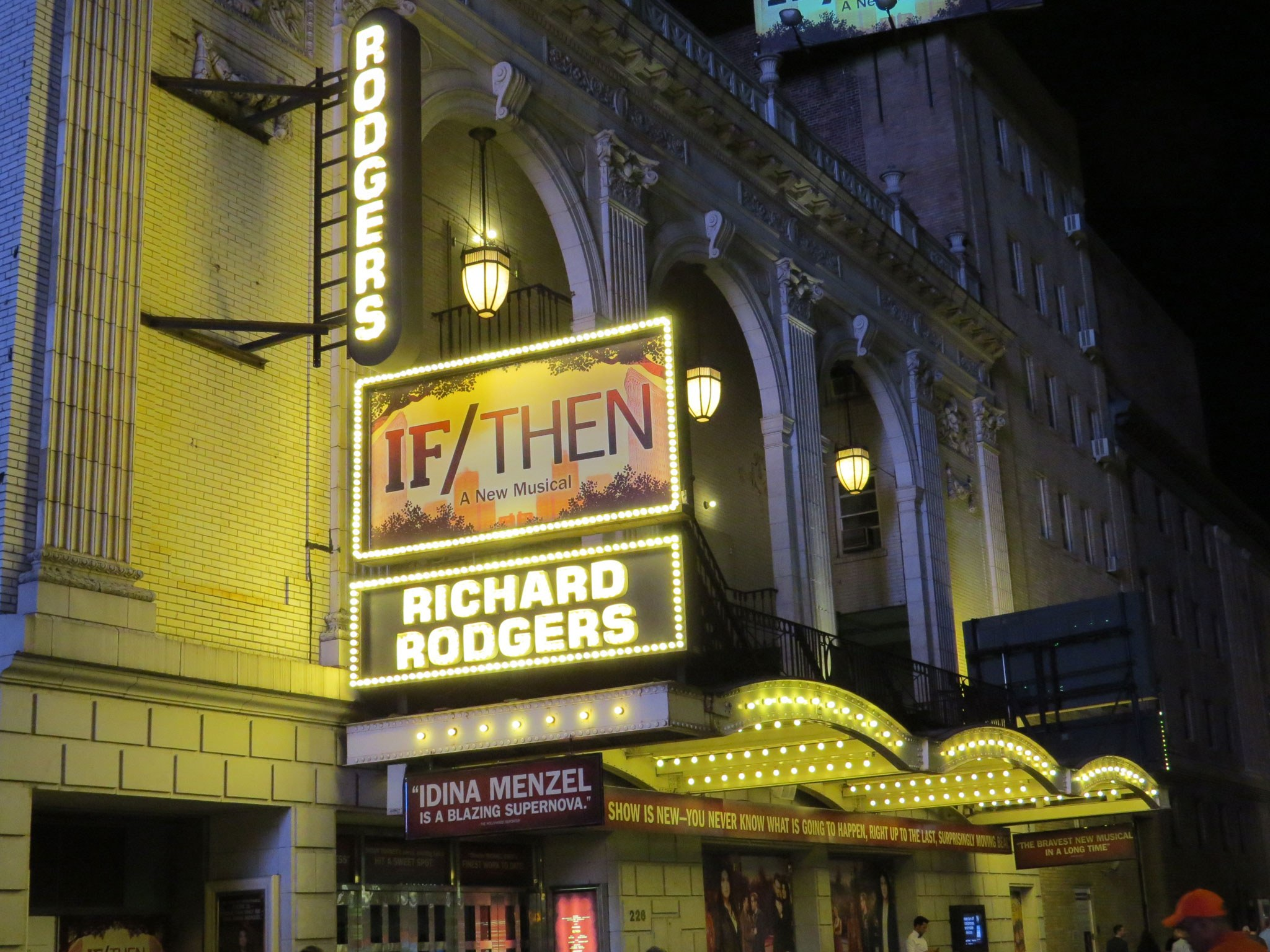 If Then Broadway Theatre Marquee