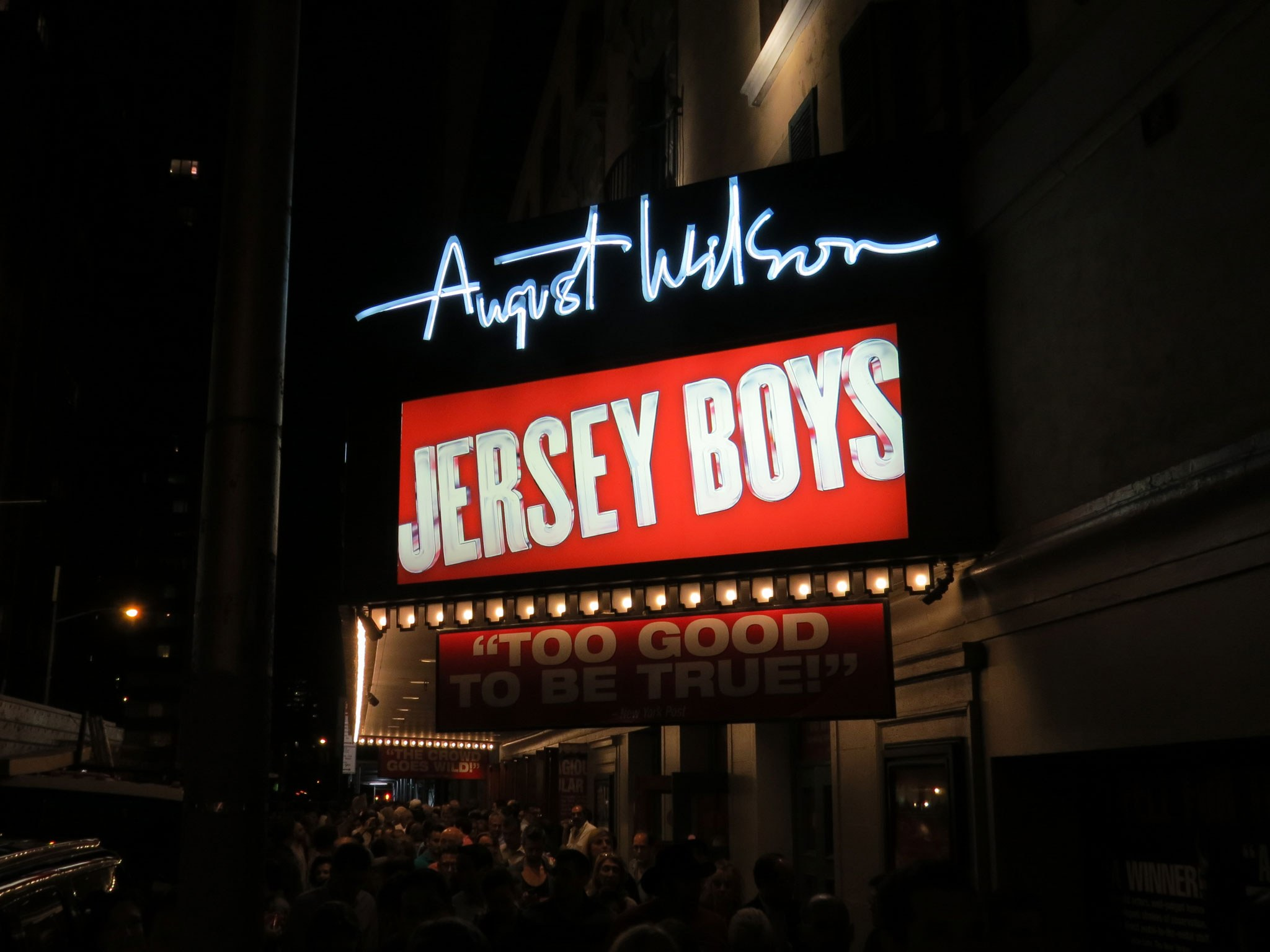 Jersey Boys Broadway Theatre  Marquee