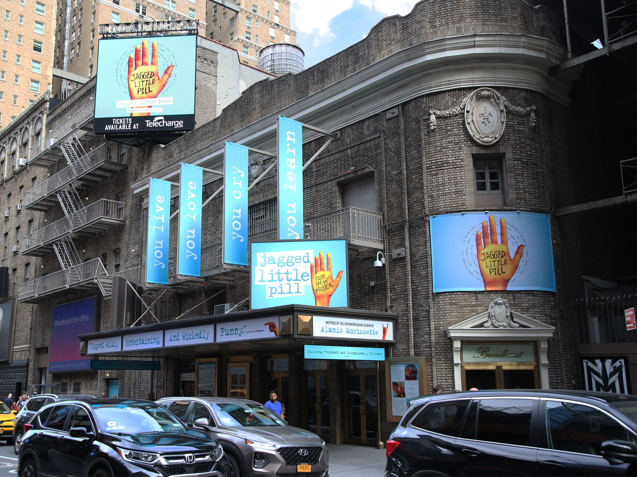 Jagged Little Pill Broadway Broadhurst Theatre Marquee