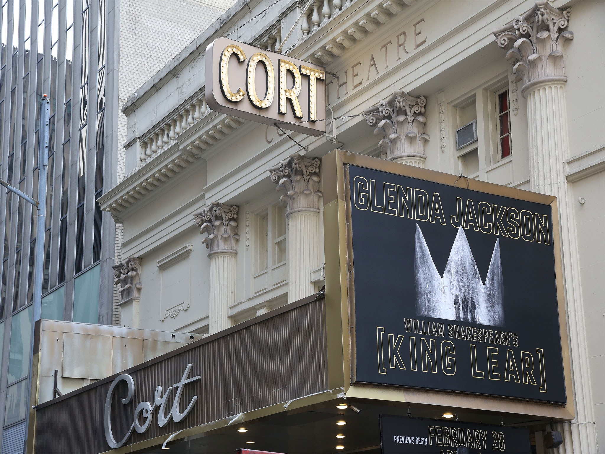 King Lear Cor Theatre Marquee