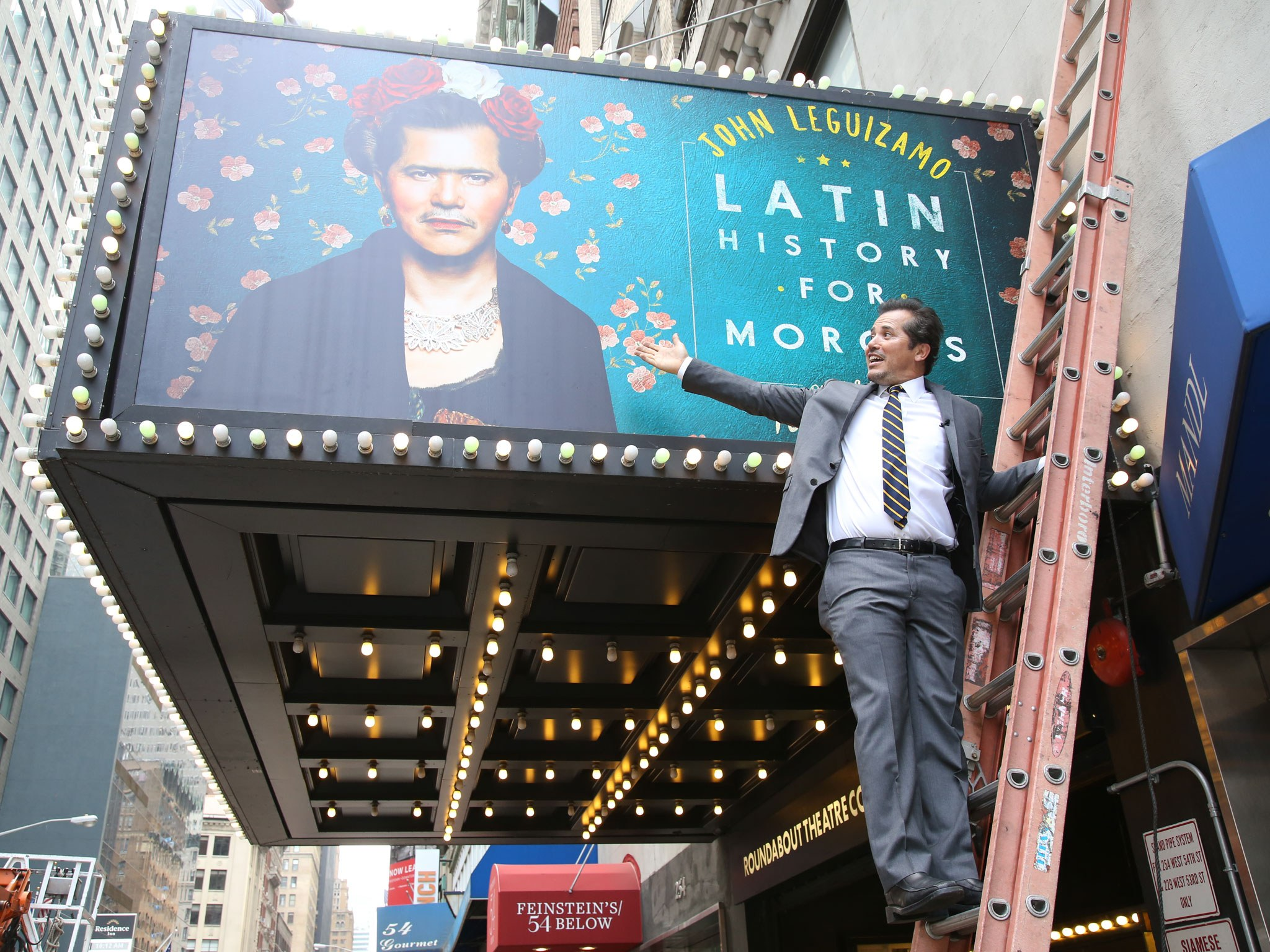 Broadway Show Latin History for Morons Theatre Marquee