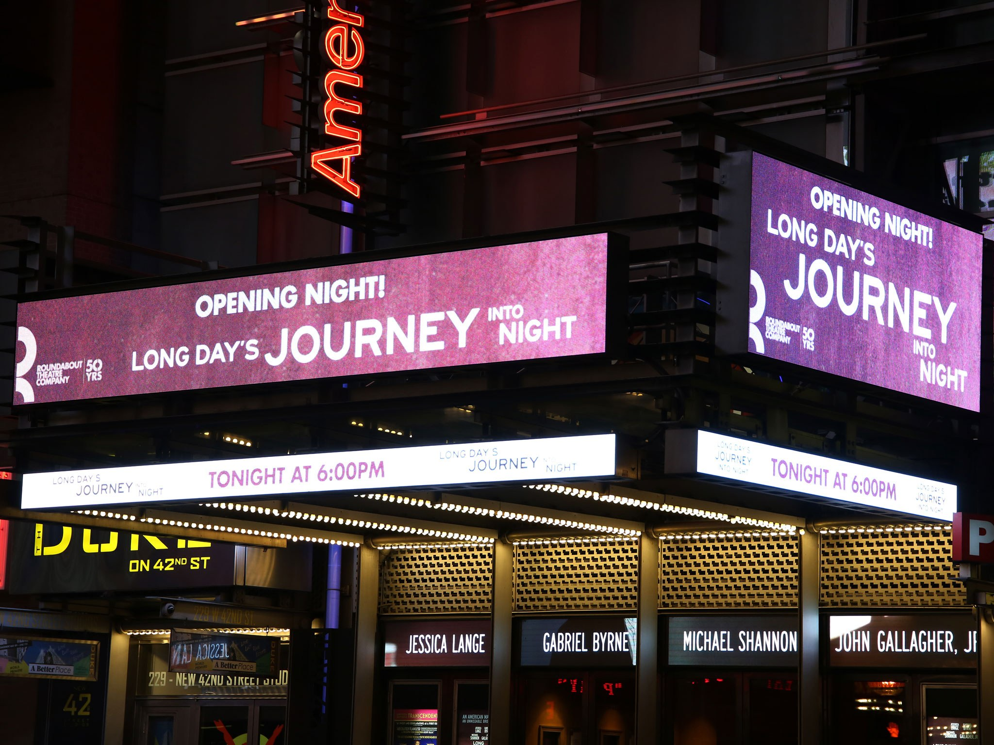 Long Day's Journey Into Night Marquee