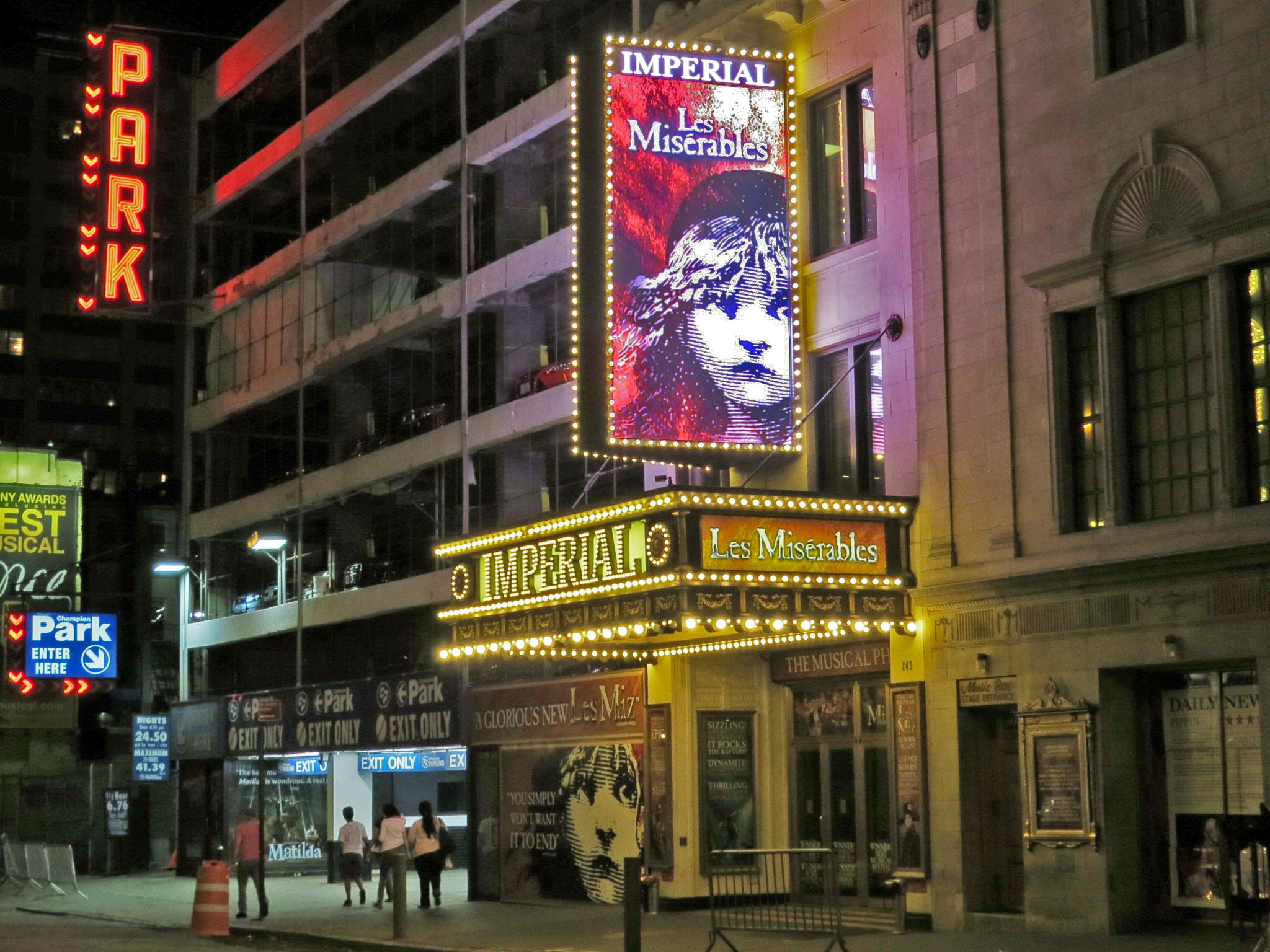 Les Miserables Broadway Theatre Marquee