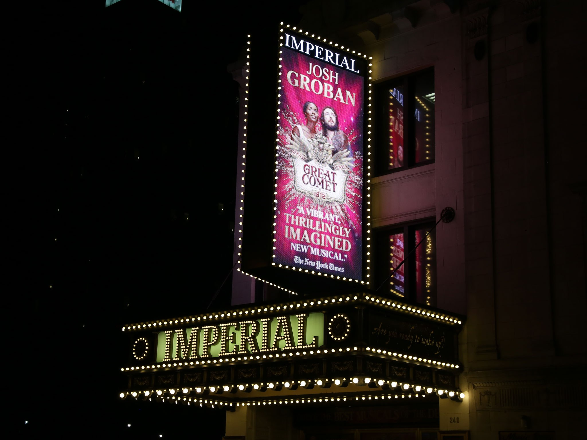 Natasha, Pierre and The Great Comet of 1812 Marquee