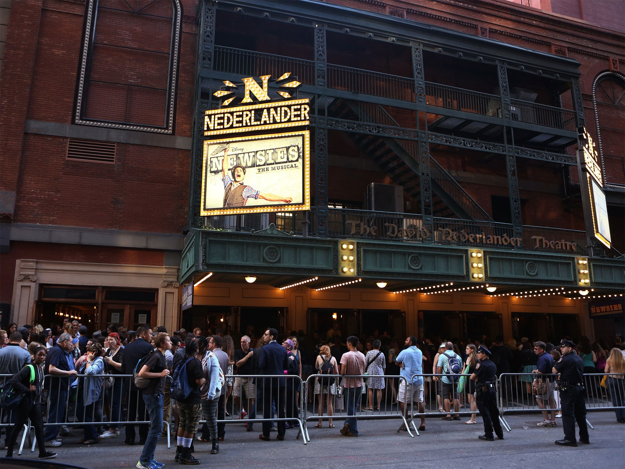 Newsies Marquee