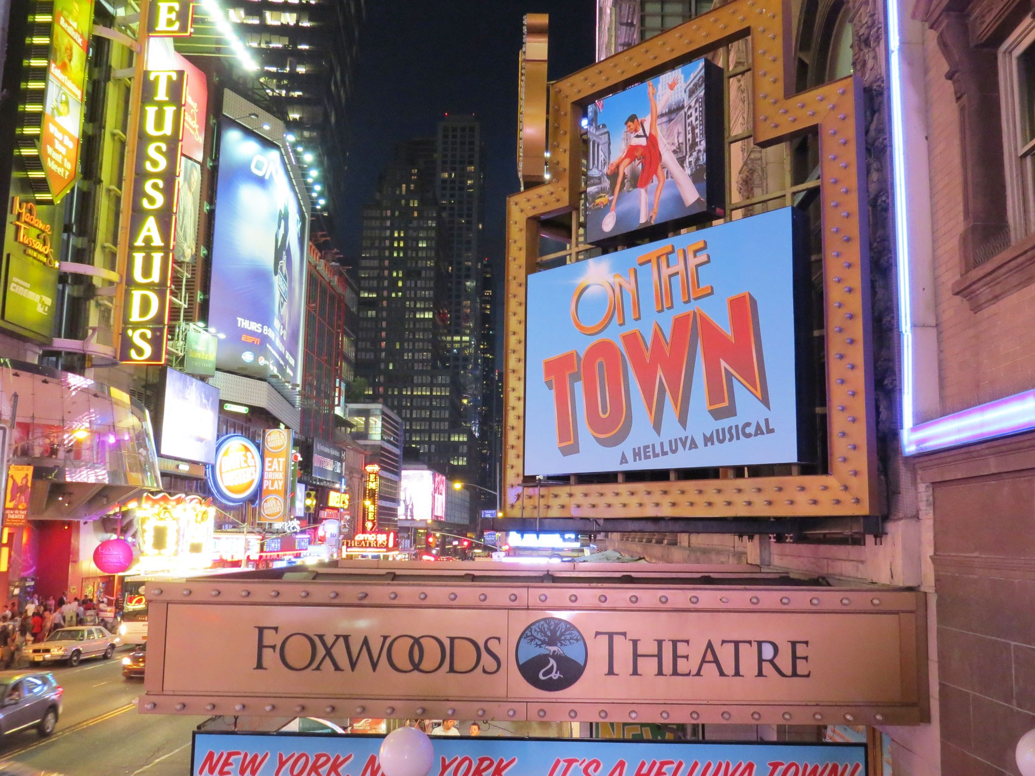 On The Town Broadway Theatre Marquee