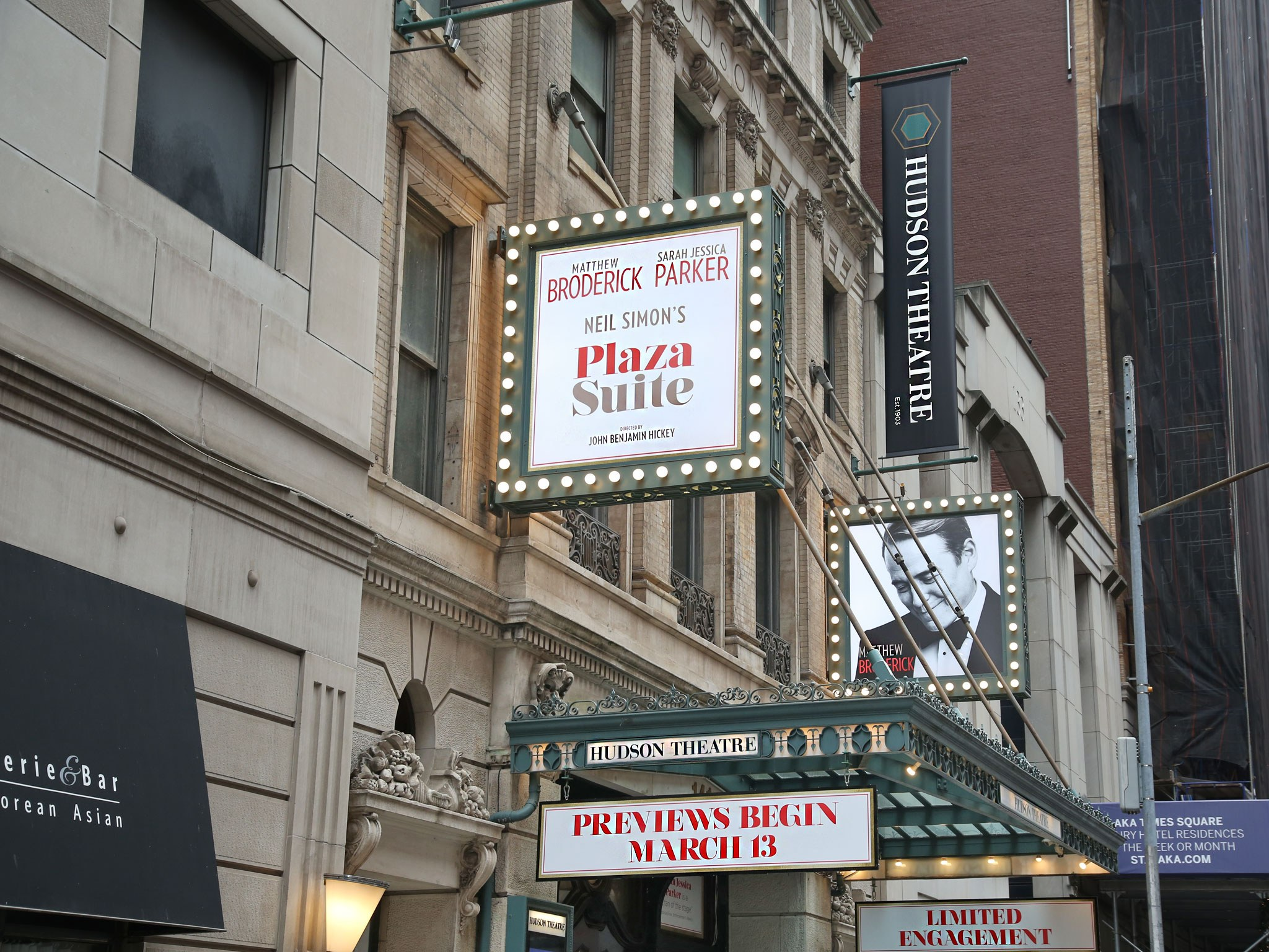 Plaza Suite Marquee at the Hudson Theatre