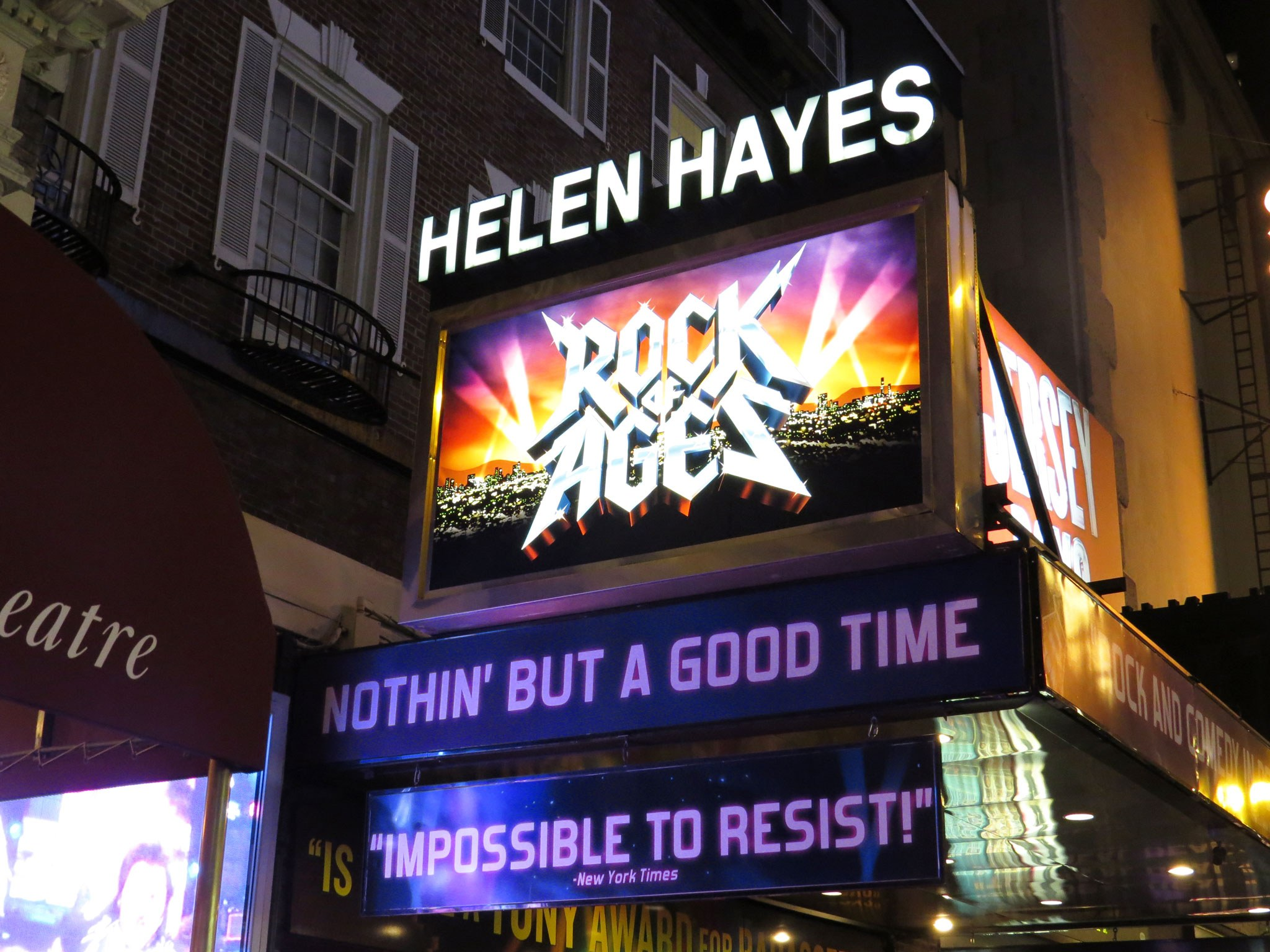 Rock of Ages Marquee