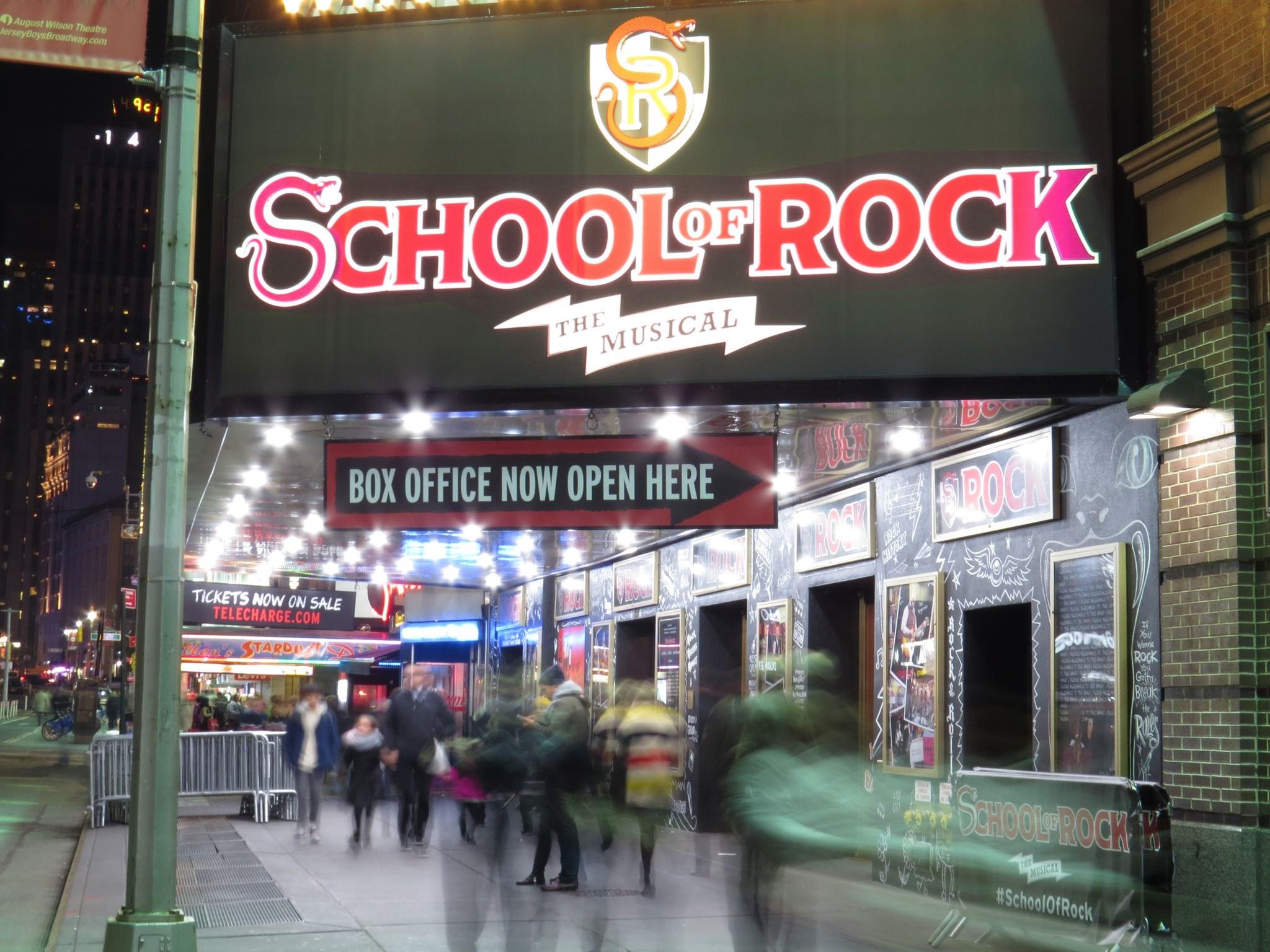 School of Rock Marquee