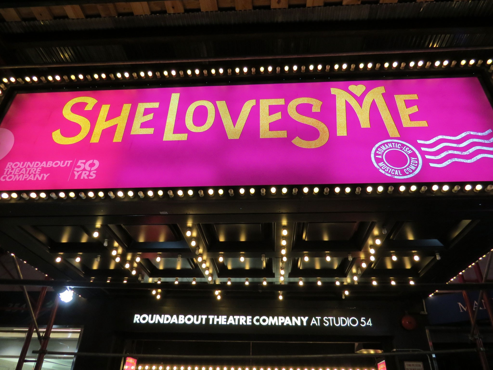 She Loves Me Marquee