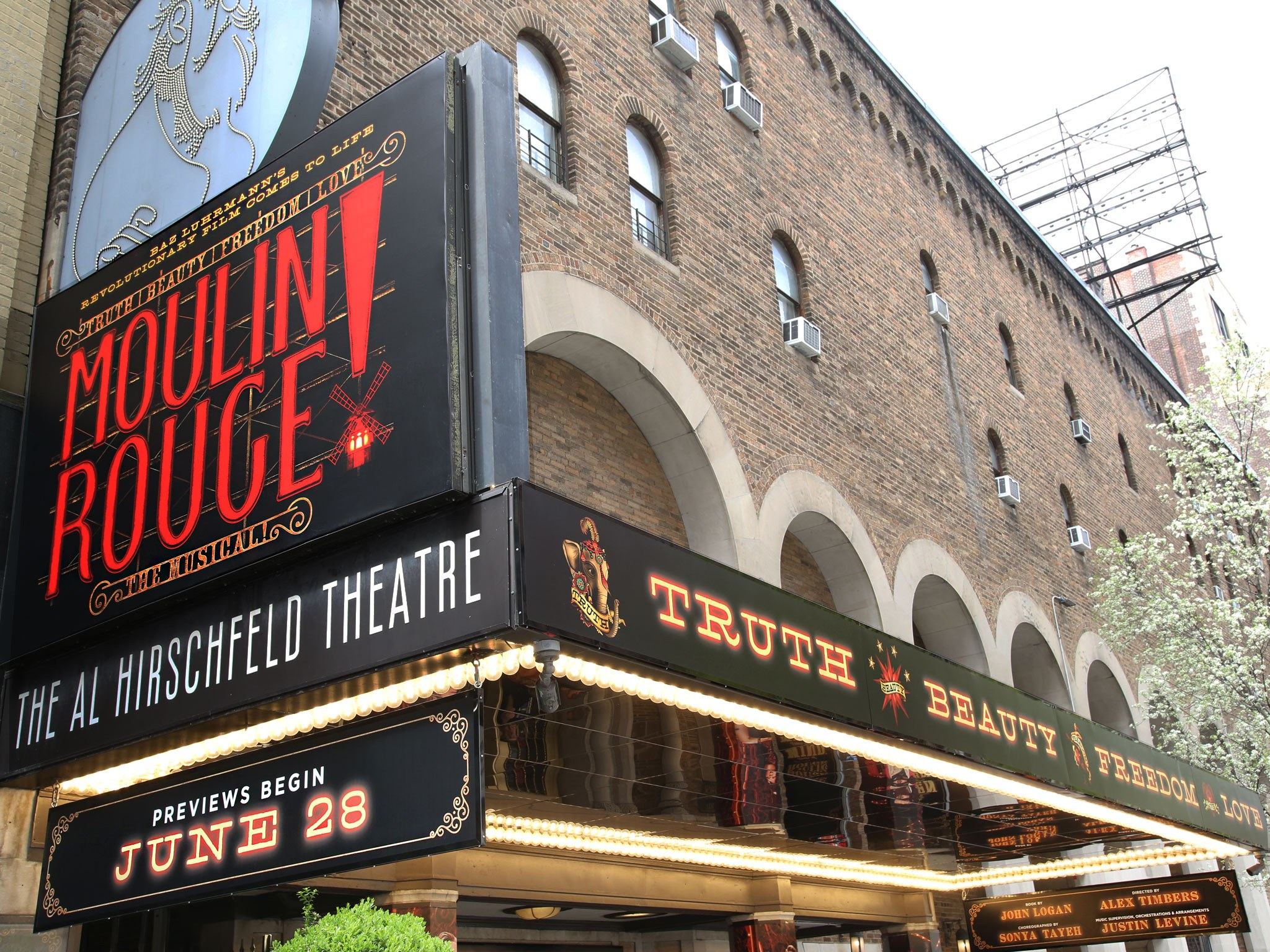 Moulin Rouge at the Al Hirschfeld Theatre