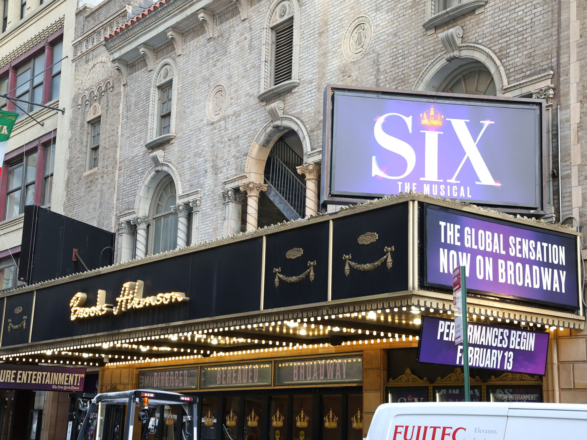 Six The Musical Broadway Theatre Marquee