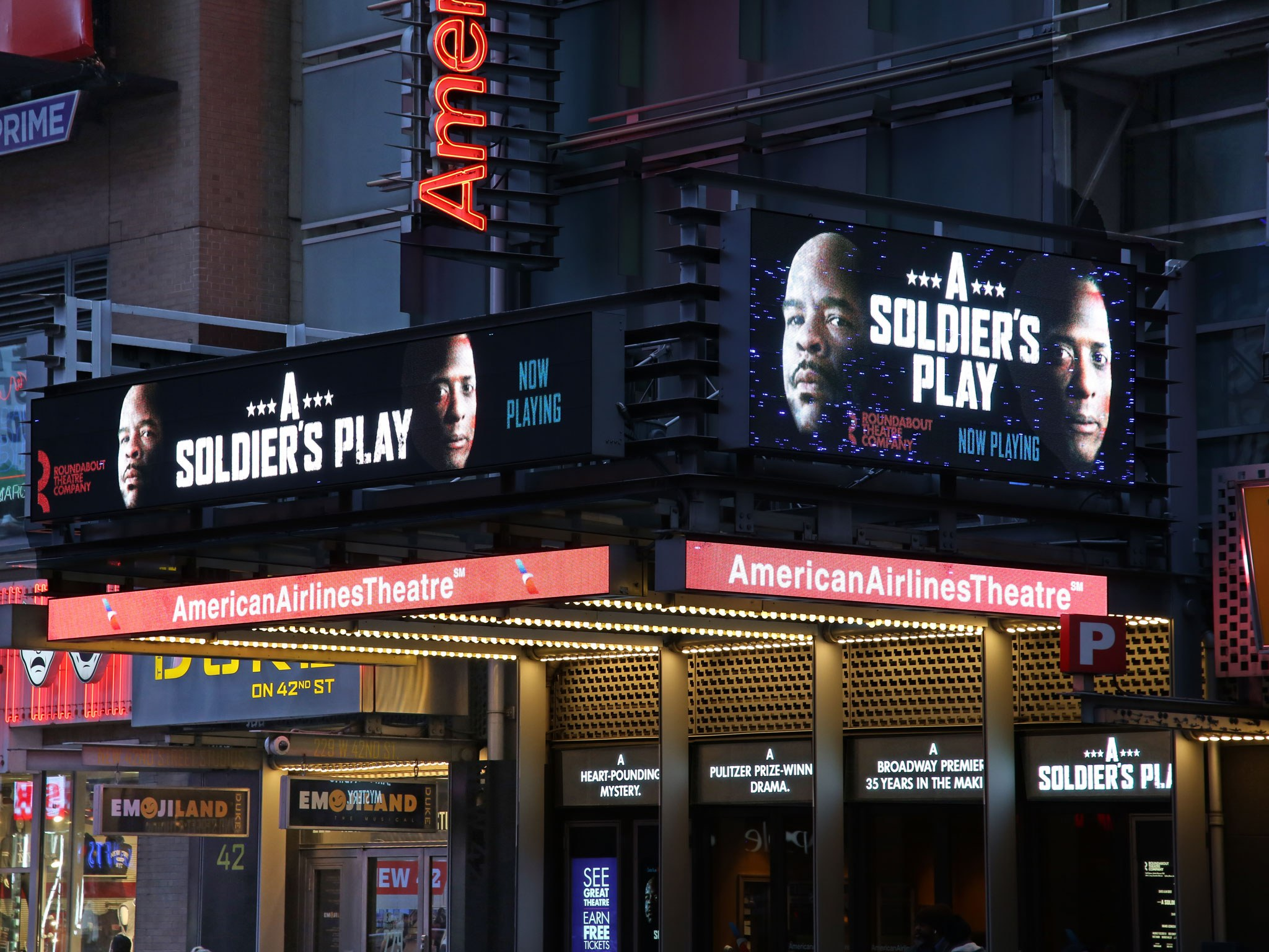 A Soldiers Play at the American Airlines Theatre