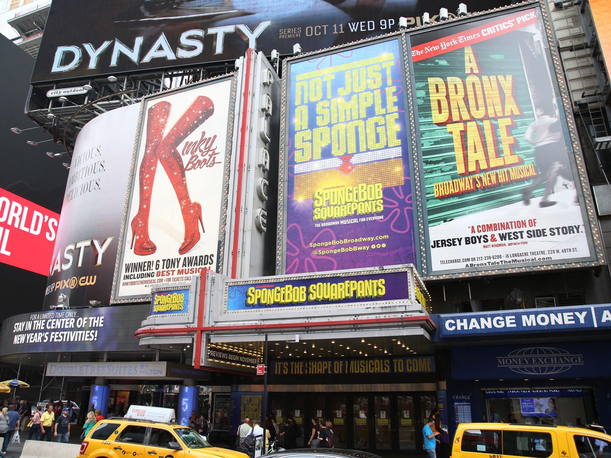 Spongebob Marquee on Broadway