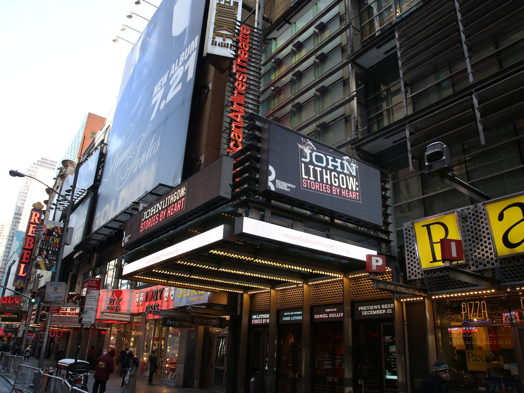 John Lithgow: Stories by Heart Broadway Theatre Marquee