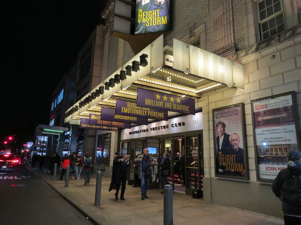 The Height of the Storm Broadway MTC Theatre Marquee