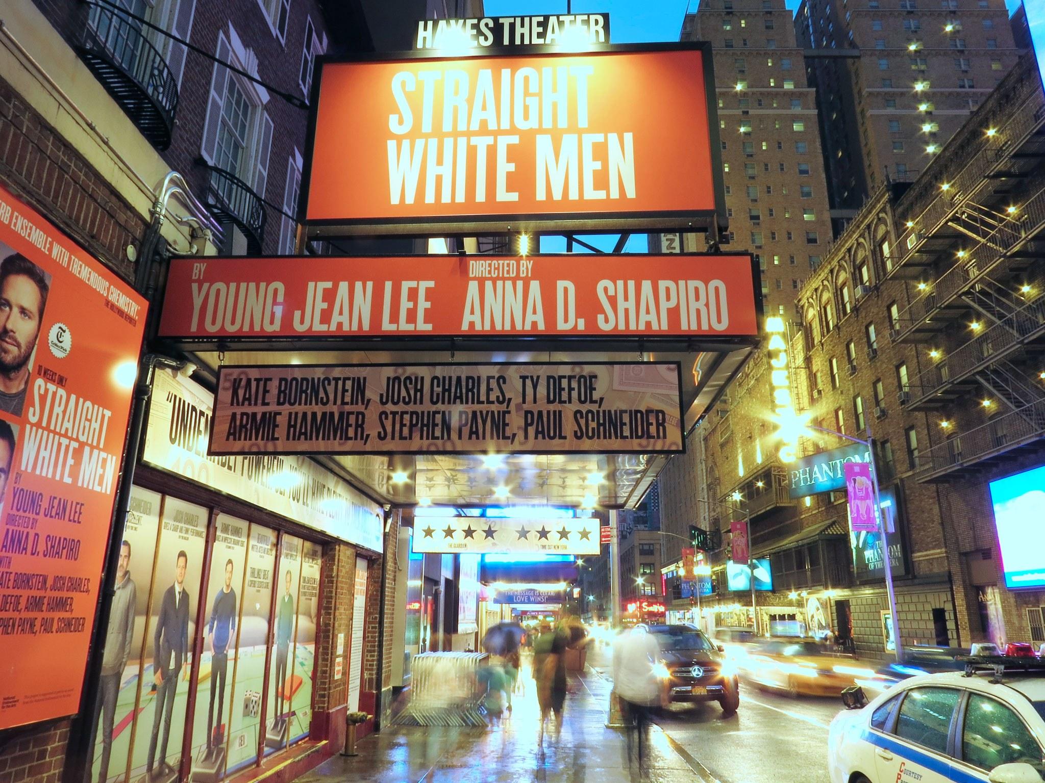 Straight White Men Broadway Theatre Marquee