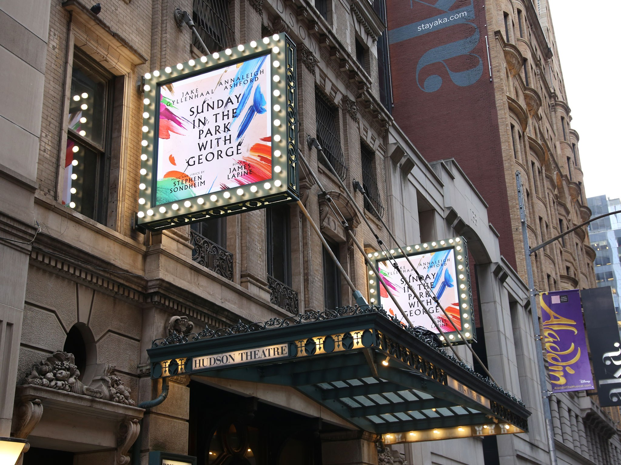 Sunday in the park Broadway Theatre Marquee