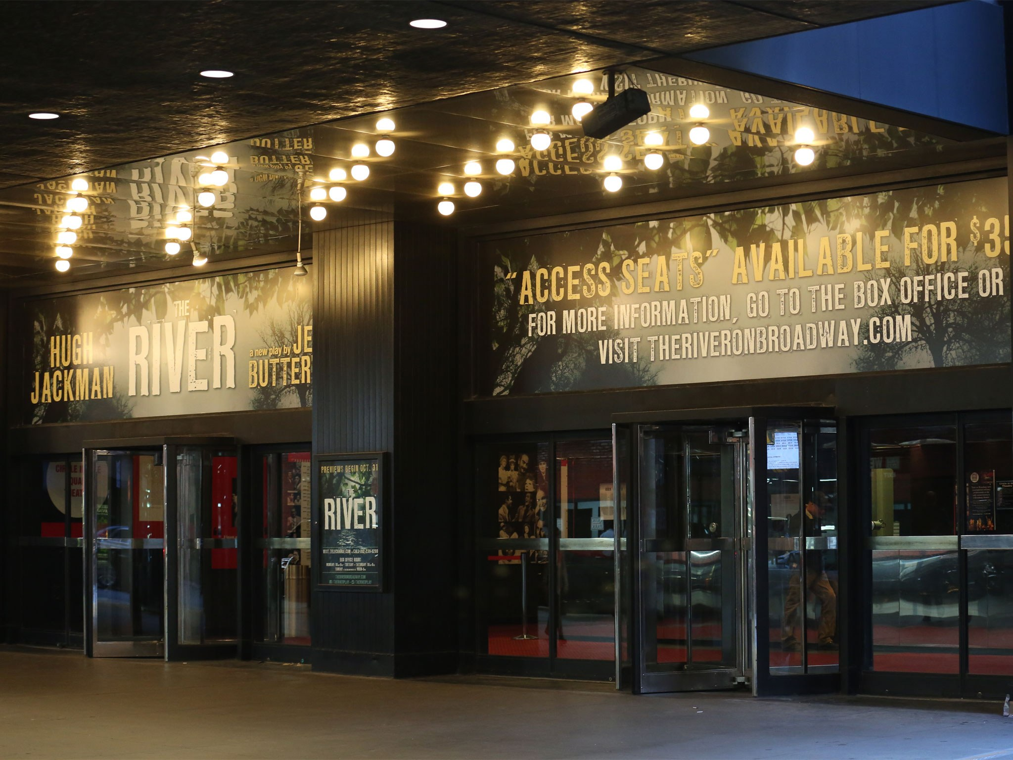 The River Broadway Theatre Front Entrance