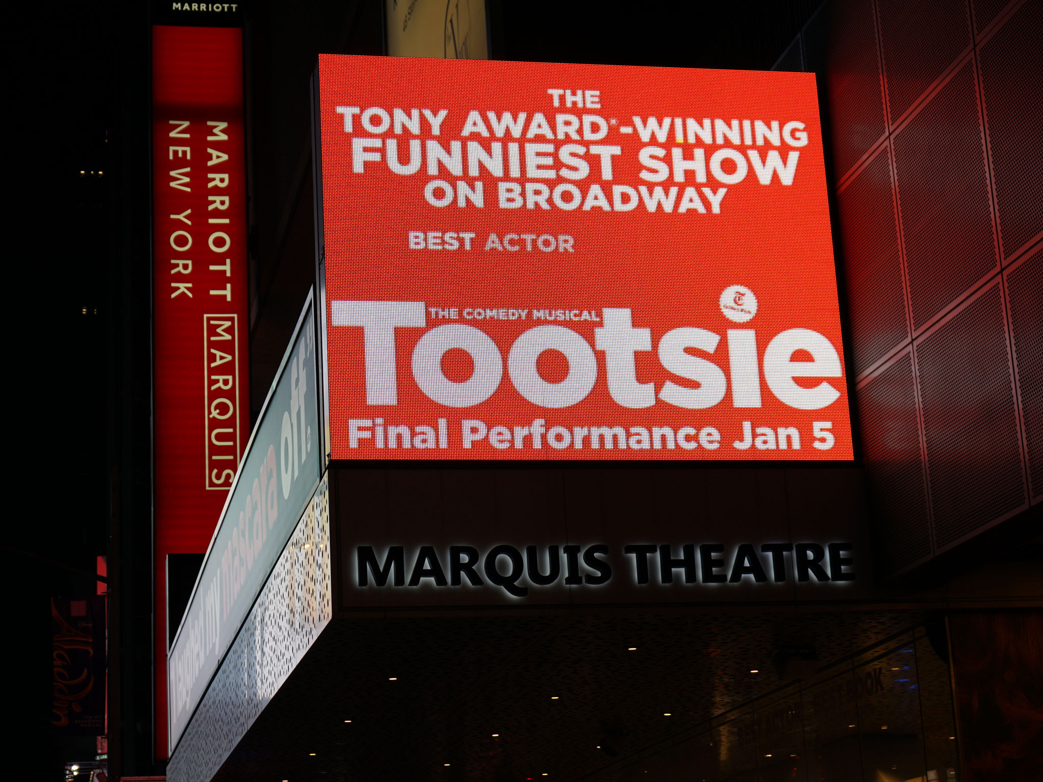 Tootsie Marquis Theatre Broadway Marquee