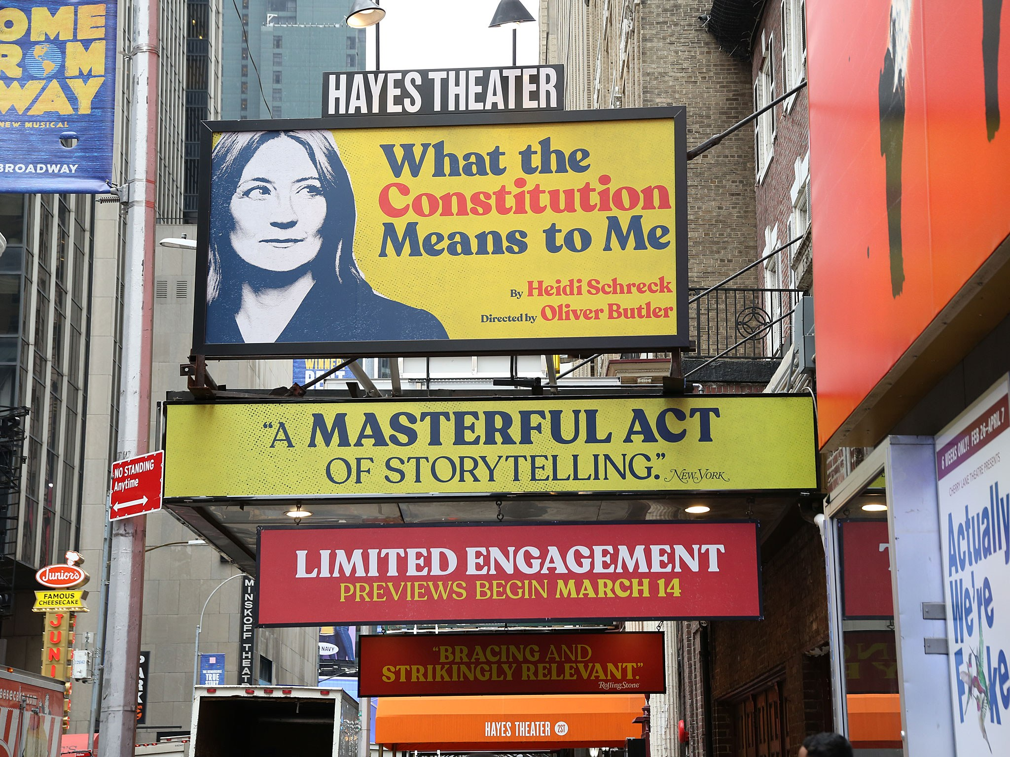 What The Constitution Means to Me Marquee