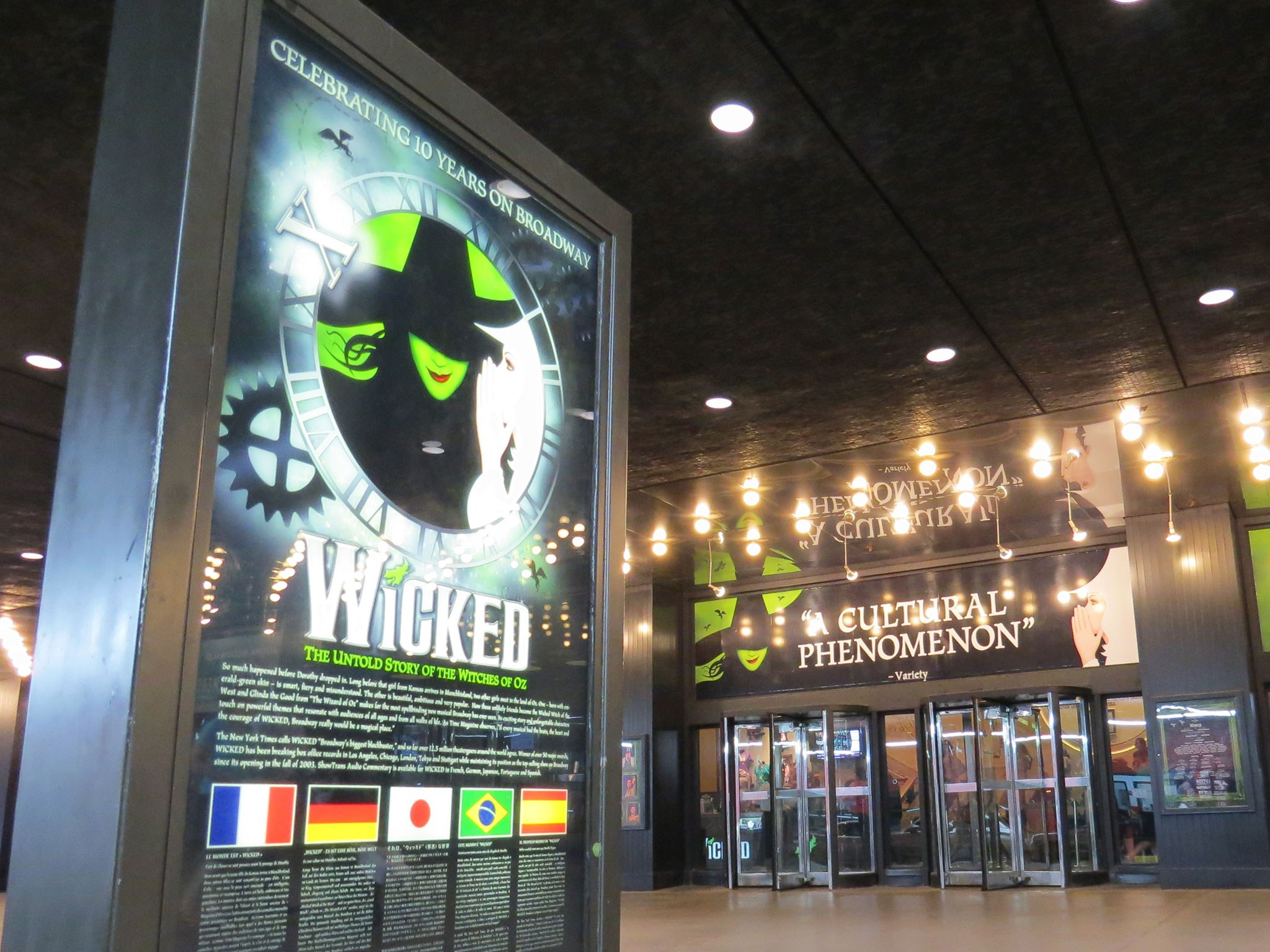 Wicked on Broadway at the Gershwin Theatre