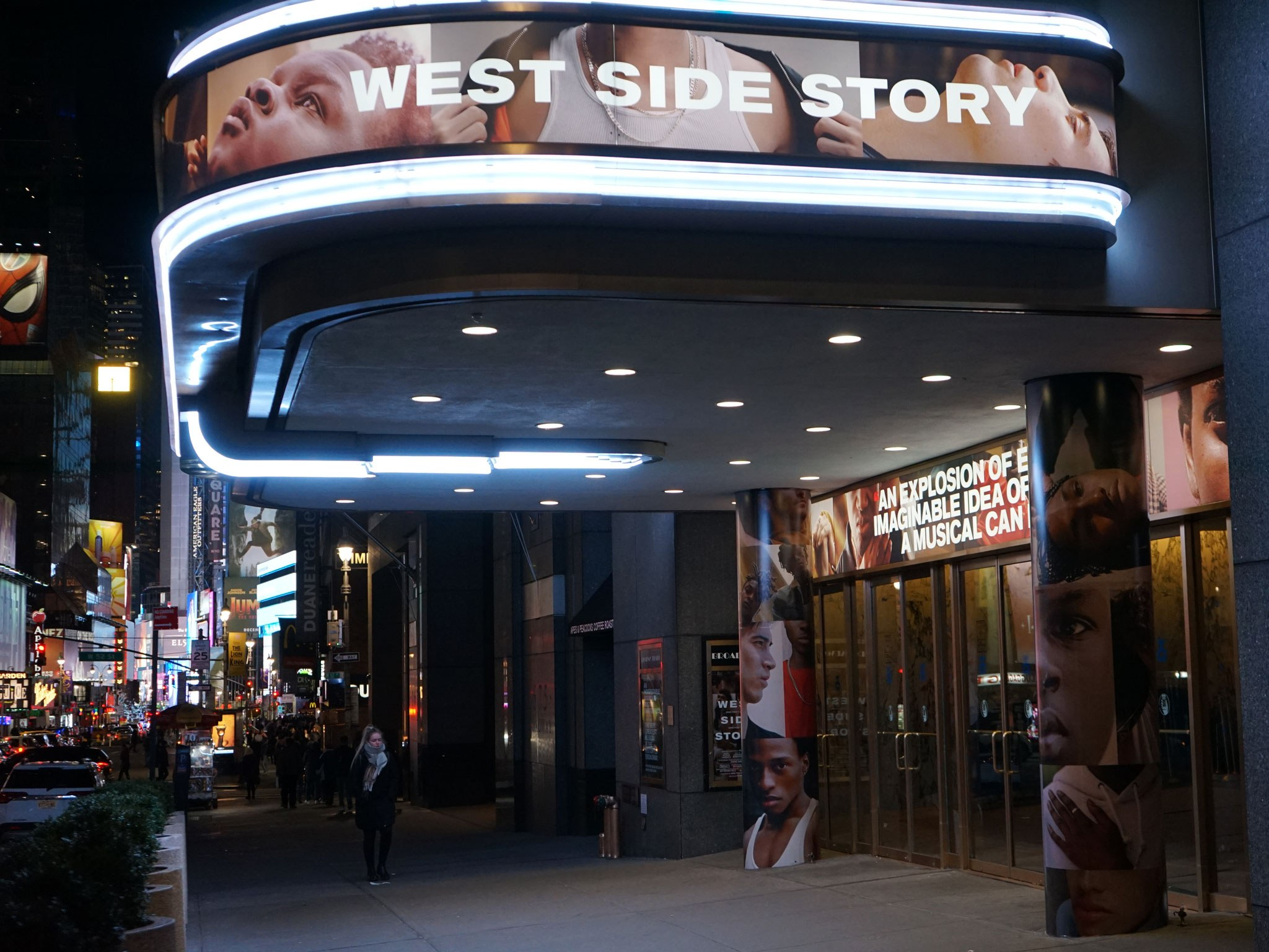 West Side Story Broadway Theatre Marquee