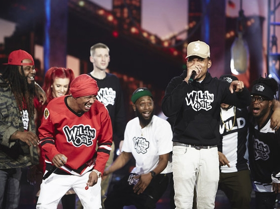 Nick Cannon with Chance the Rapper on Wild N' Out