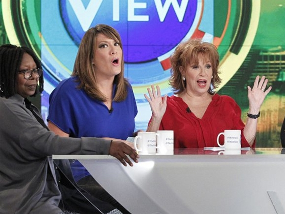 Whoopi Goldberg, Sunny Hostin and Joy Behar on the View